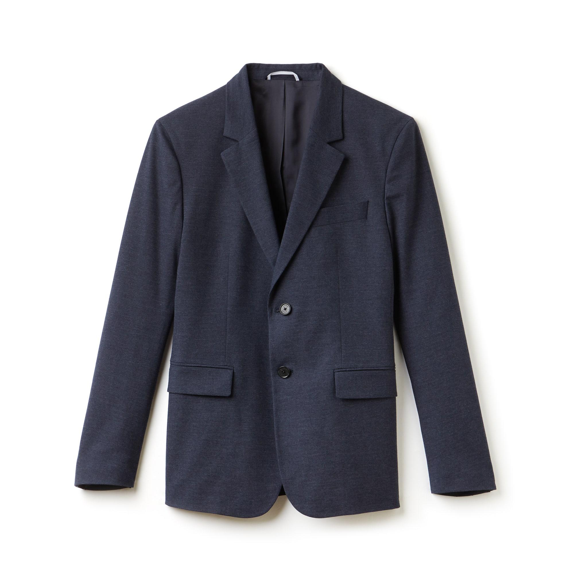 라코스테 Lacoste Mens Regular Fit Cotton Gabardine Jacket,navy blue