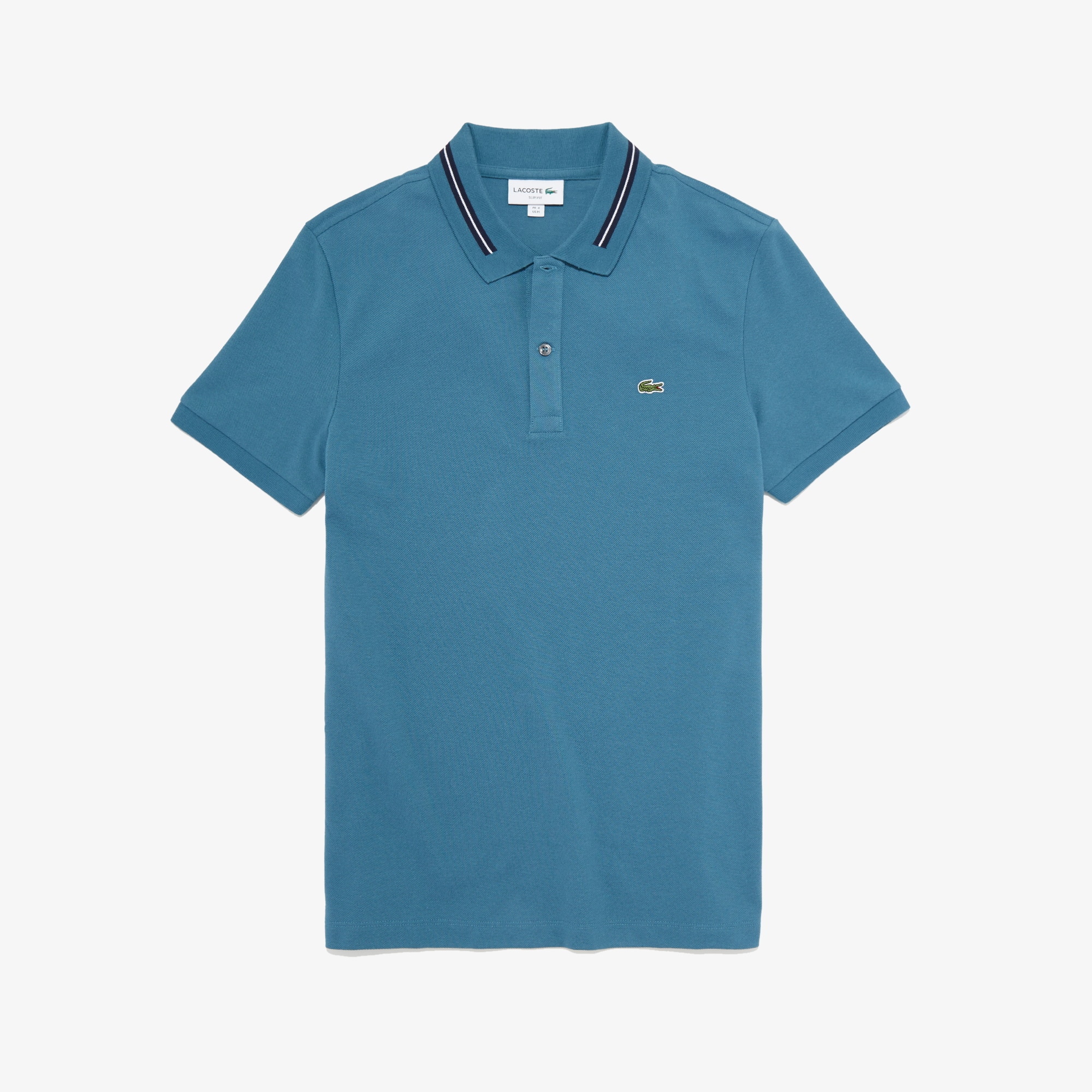 Men's Slim Fit Stripe-Accented Cotton Piqué Polo