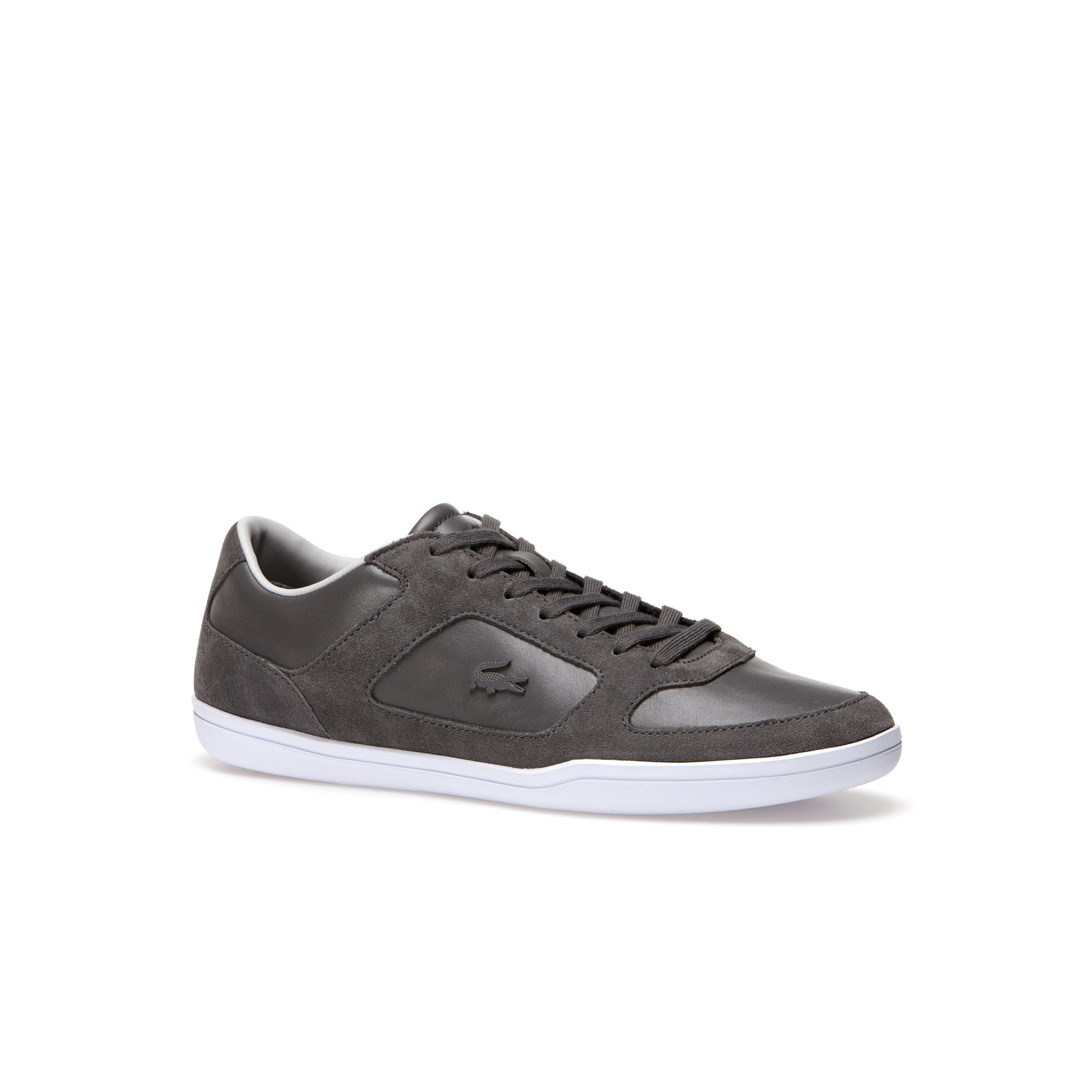 Men's Court-Minimal Leather And Suedette Sneakers