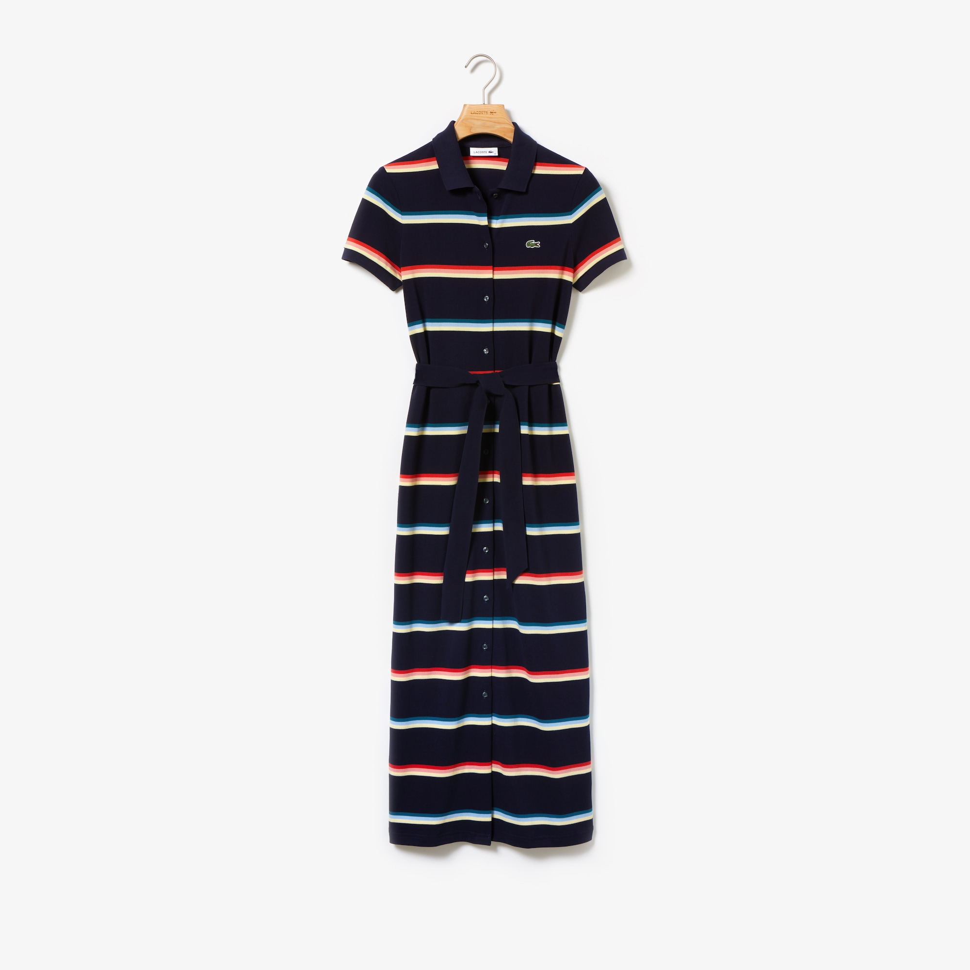 Women's Piqué Buttoned Long Polo Dress