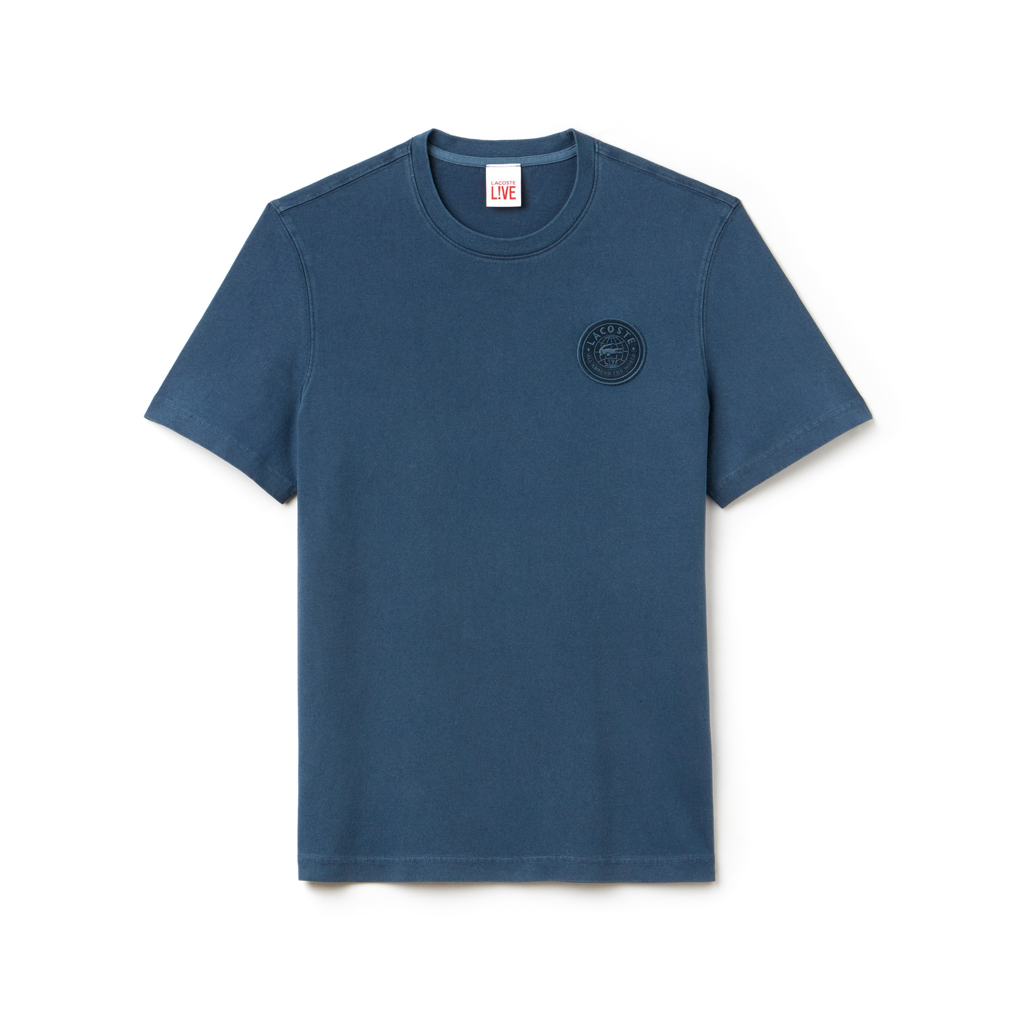 Men's LIVE Faded T-Shirt With Badge