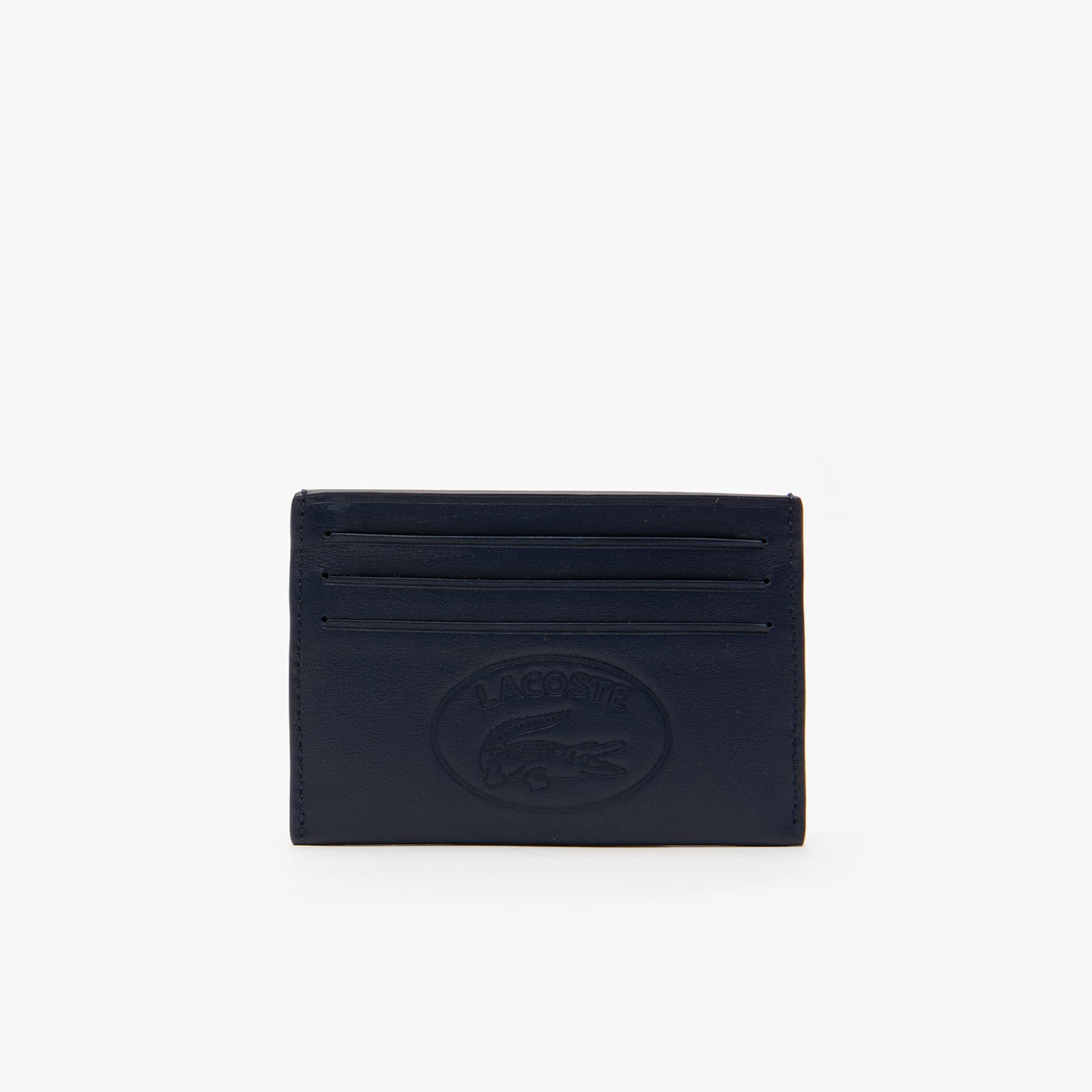 Men's L.12.12 Casual Embossed Lettering Leather 6 Card Holder