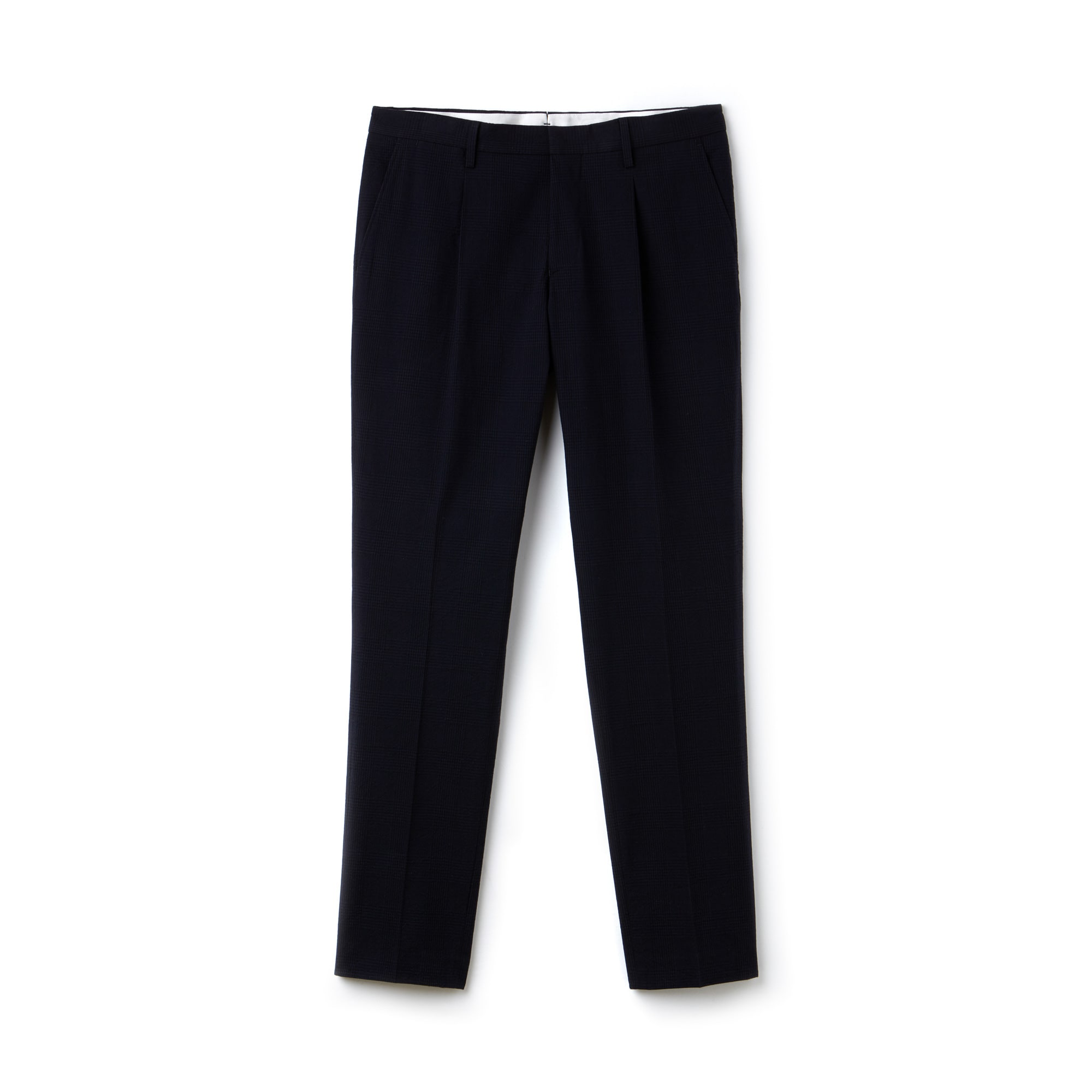 Men's Slim Fit Seersucker Pleated Pants