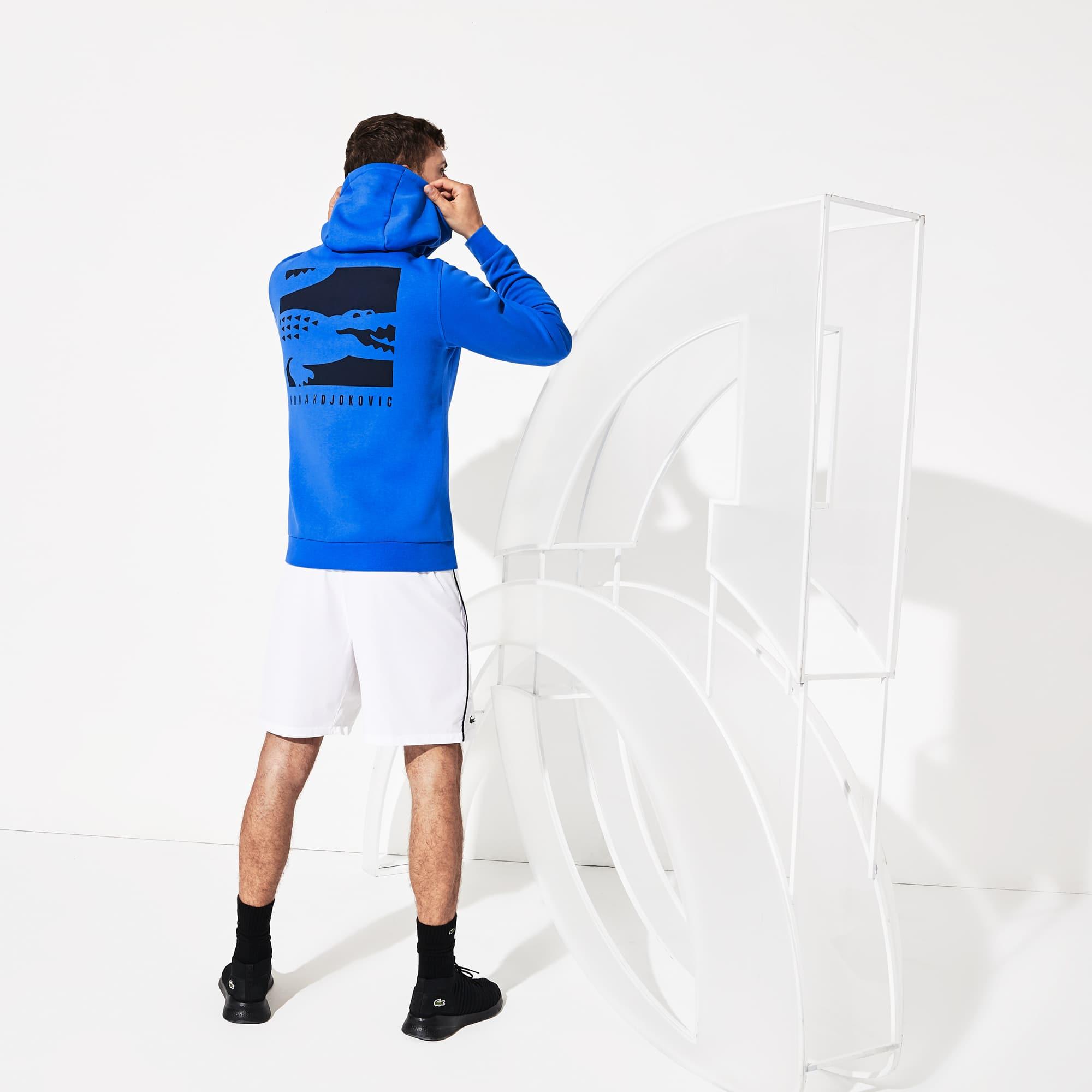 라코스테 후드티 Lacoste Mens SPORT Novak Djokovic Croc Logo Sweatshirt,Blue / Navy Blue - RDT