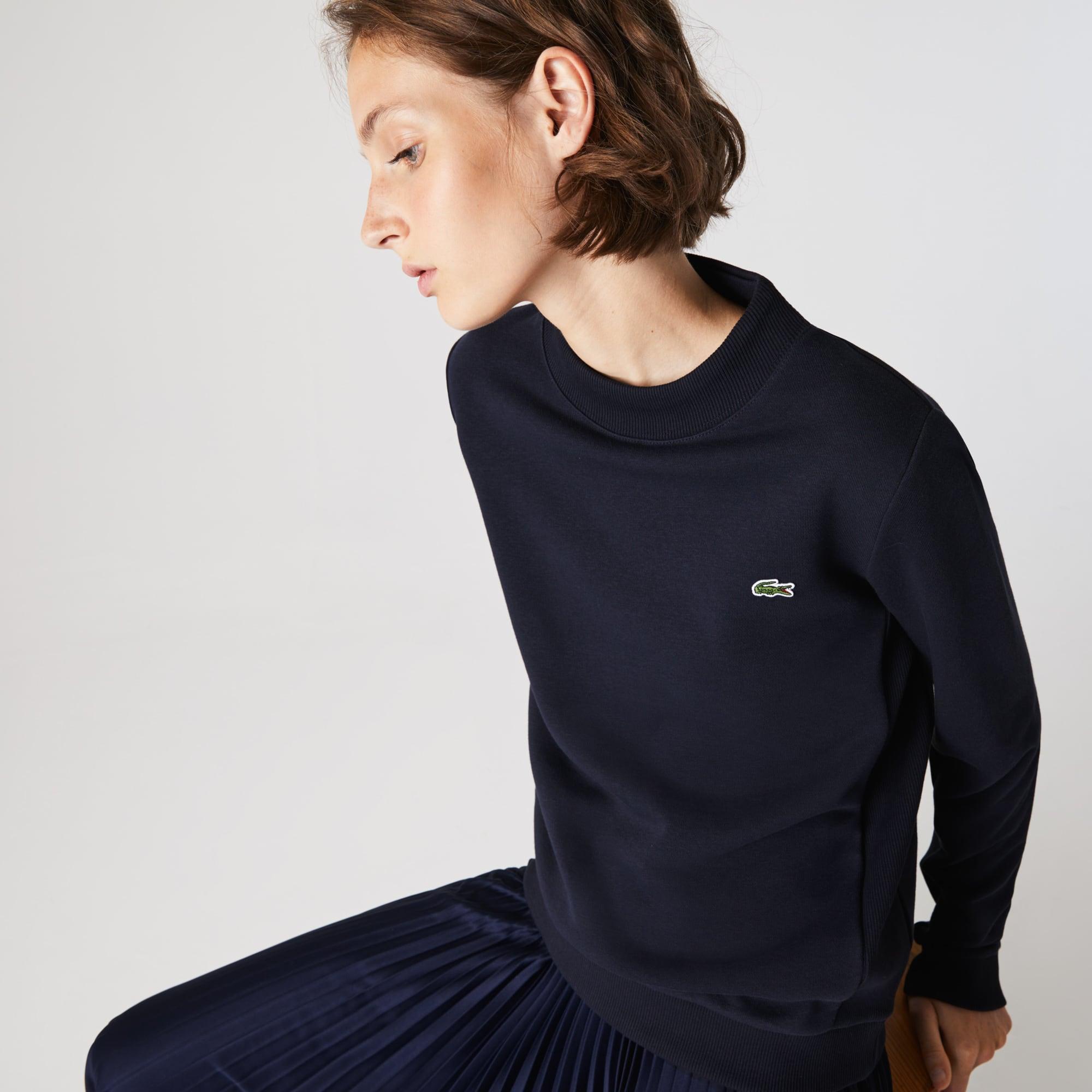 라코스테 스포츠 우먼 플리스 테니스 맨투맨 Lacoste Womens SPORT Fleece Tennis Sweatshirt,Navy Blue
