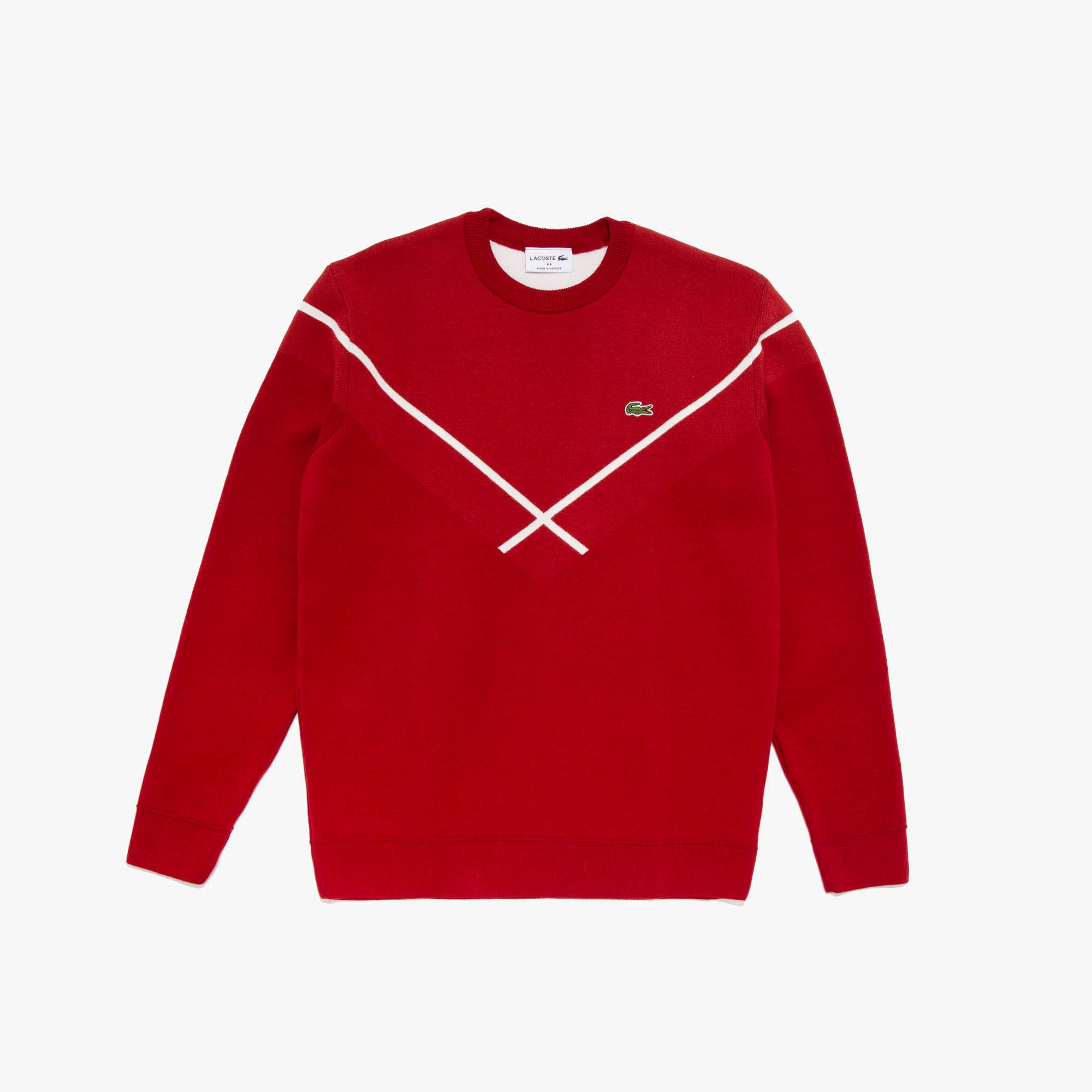 Men's Made In France Crewneck Jacquard Sweater