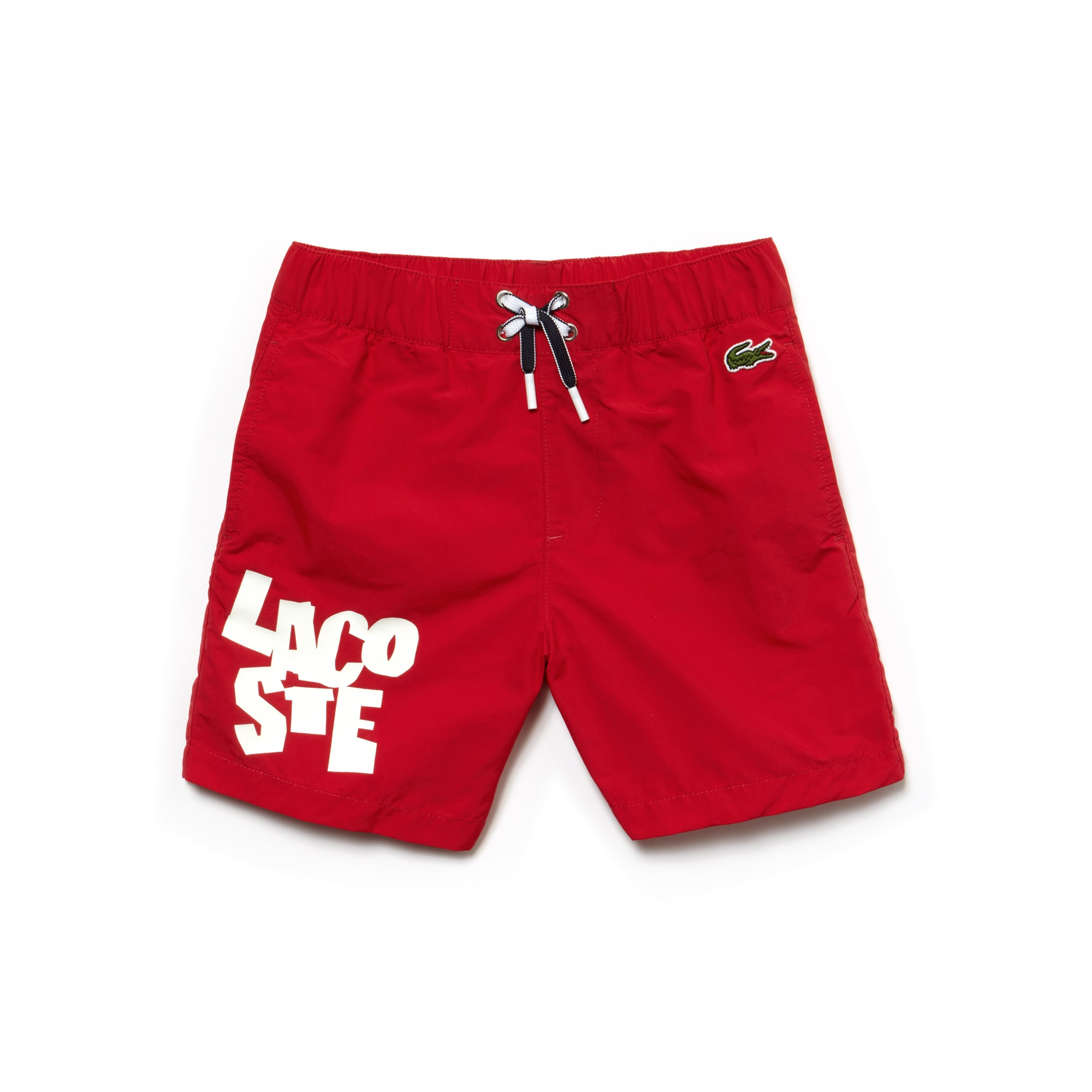 Boys' Lettering Canvas Swimming Trunks