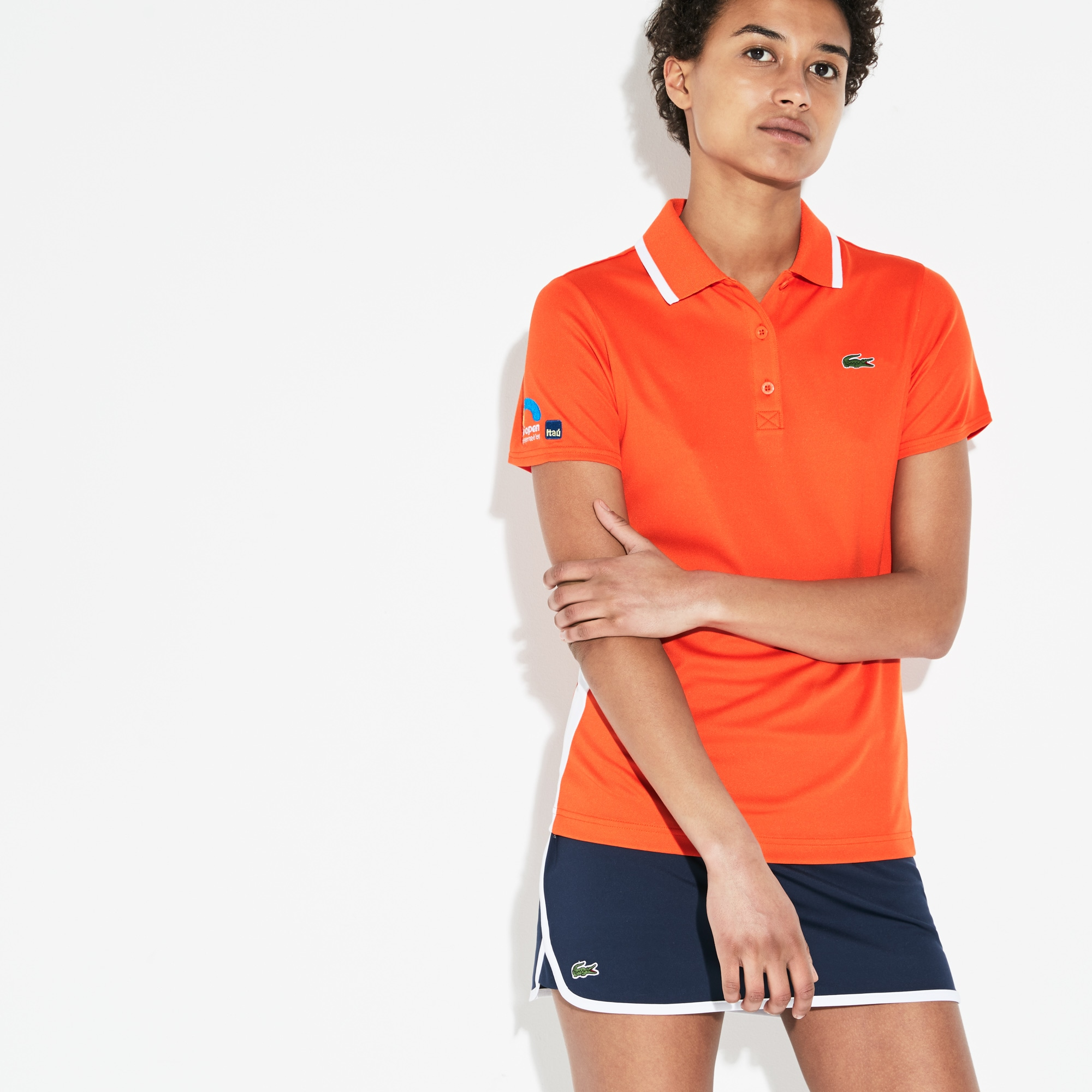 Women's SPORT Miami Open Oversized Croc Tech Piqué Tennis Polo
