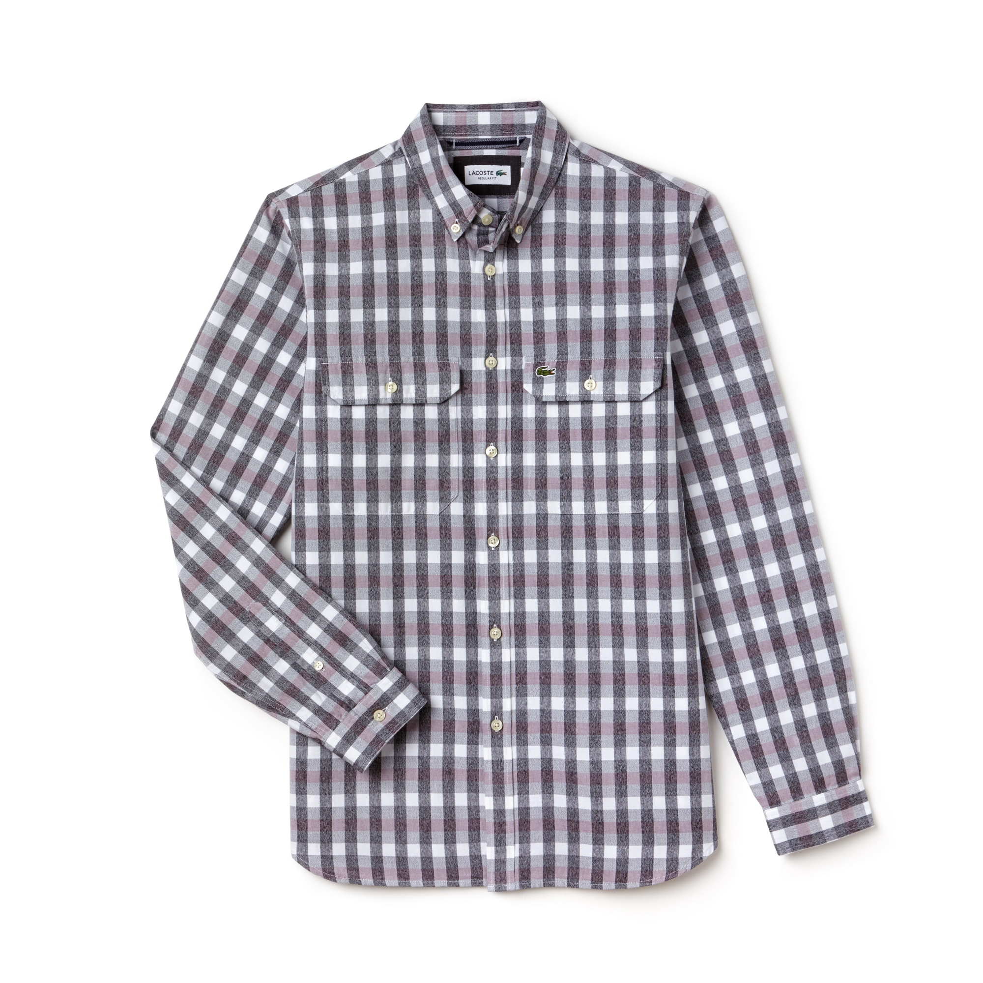 Men's Regular Fit Oxford Cotton Check Shirt With Pockets