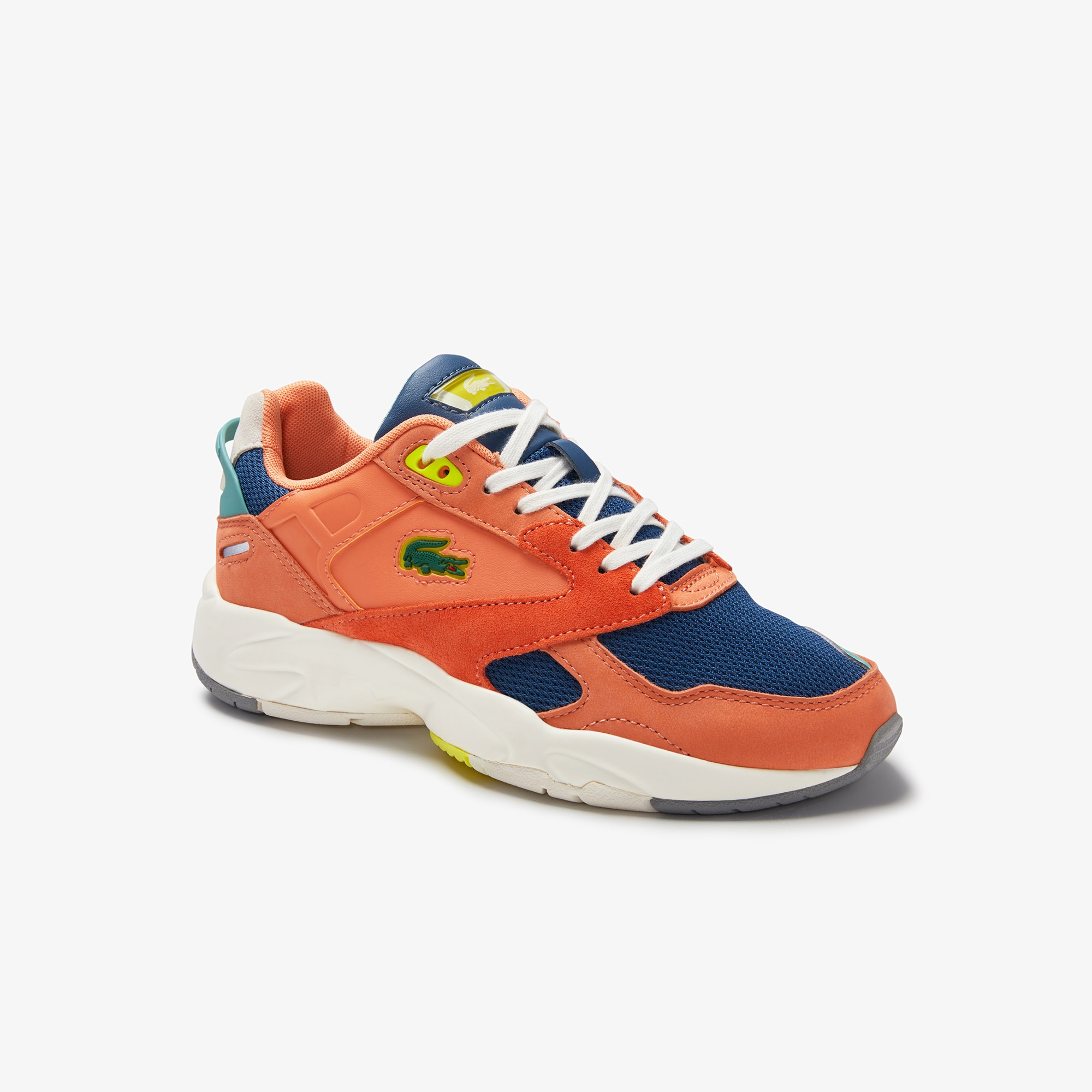 Lacoste Womens Storm 96 LO Mesh and Leather Trainers