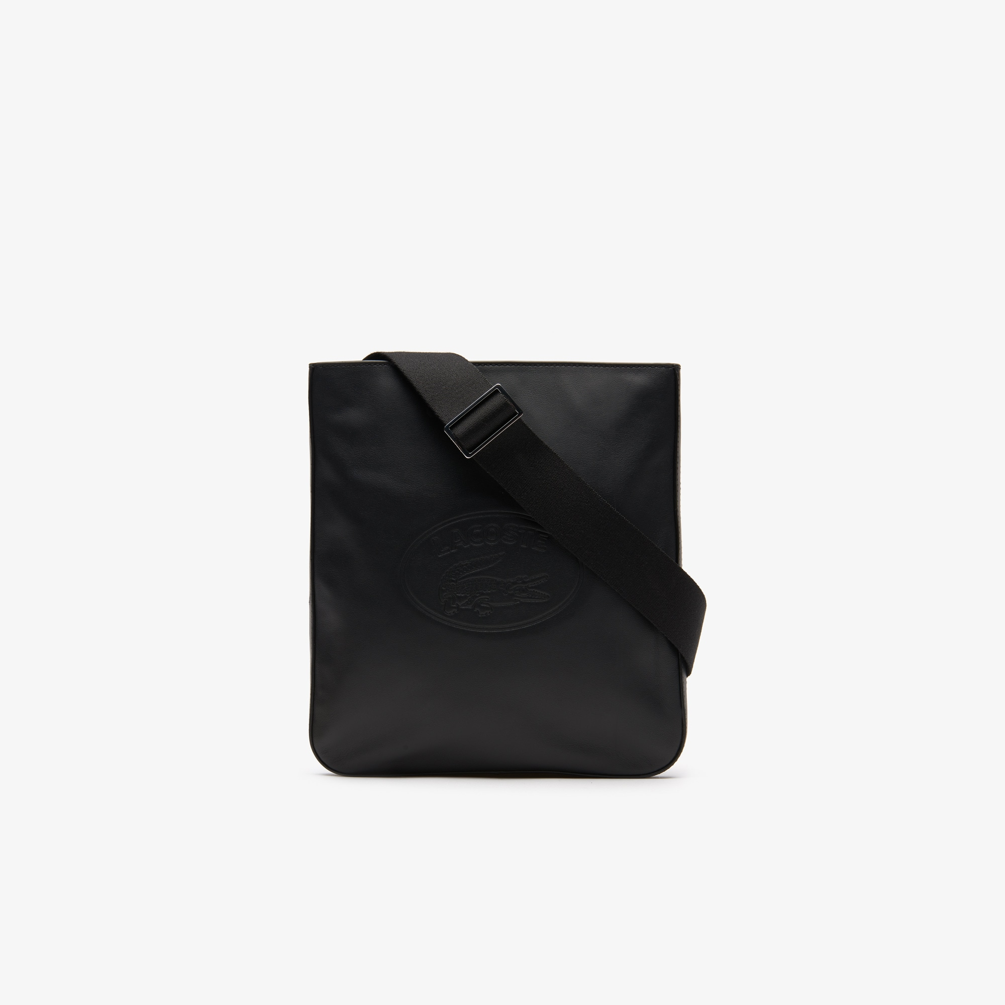 라코스테 L.12.12 캐쥬얼 가죽 백 Lacoste Mens L.12.12 Casual Leather Bag,BLACK