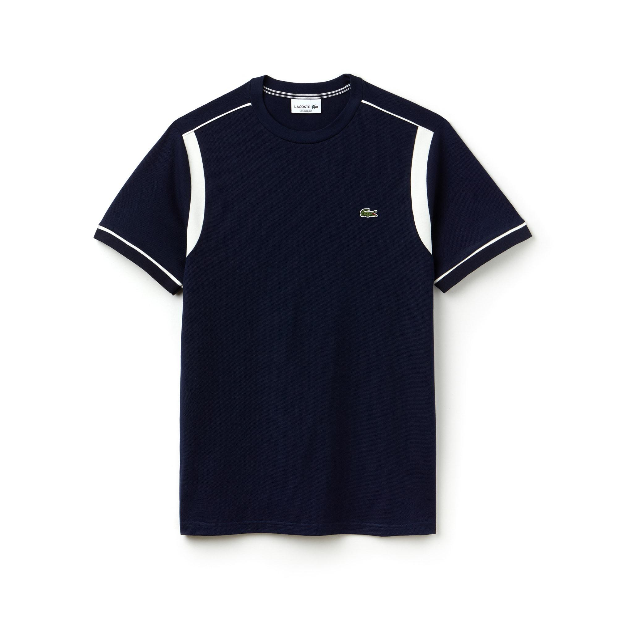 Men's Contrast Square Knit T-Shirt