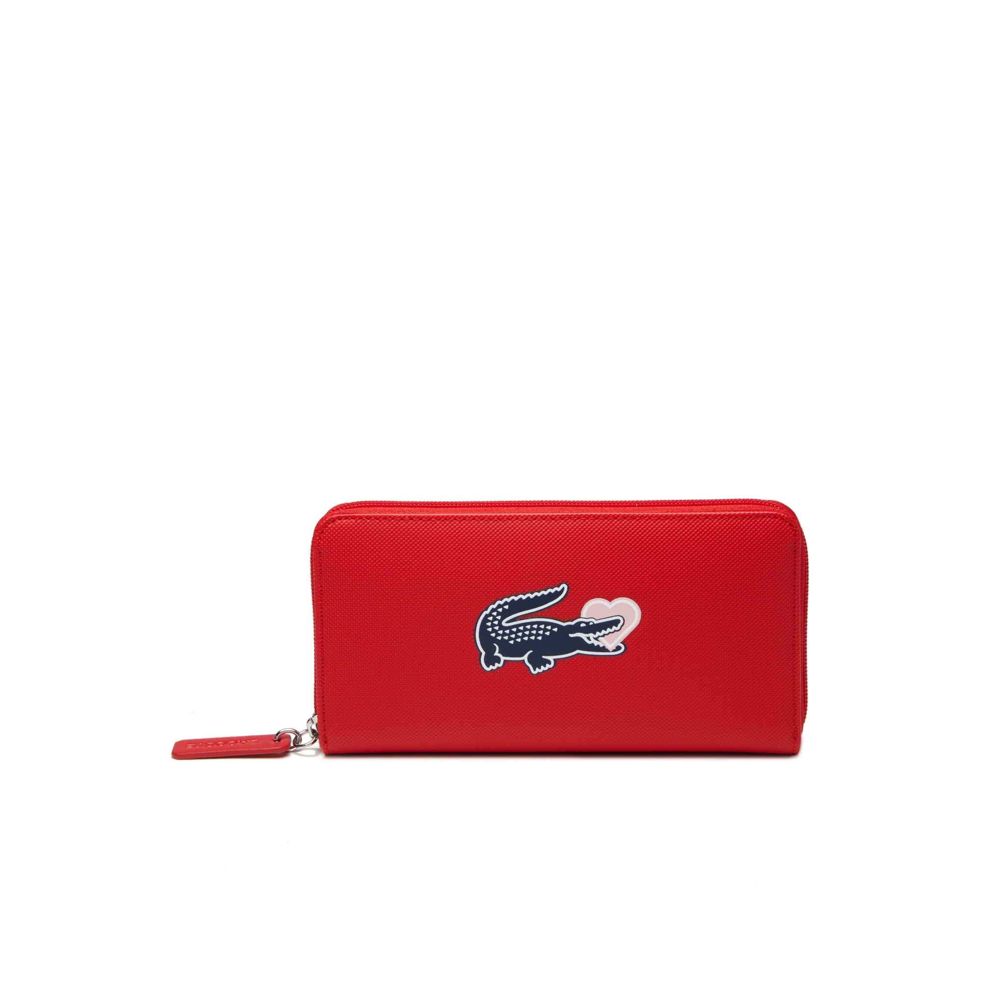 Women's L.12.12 Concept Croc Heart Zip Wallet