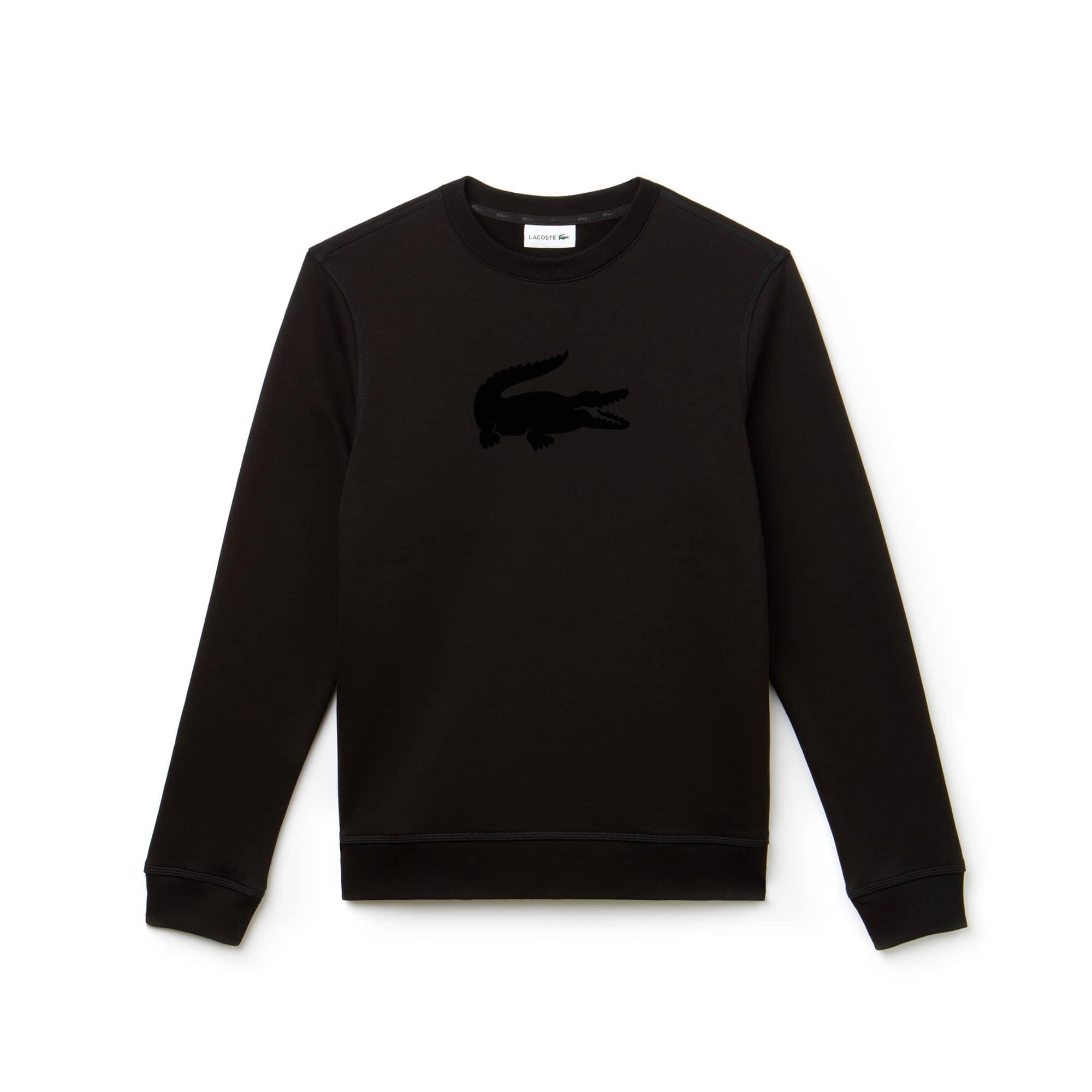 Men's Crew Neck Felt Crocodile Fleece Sweatshirt