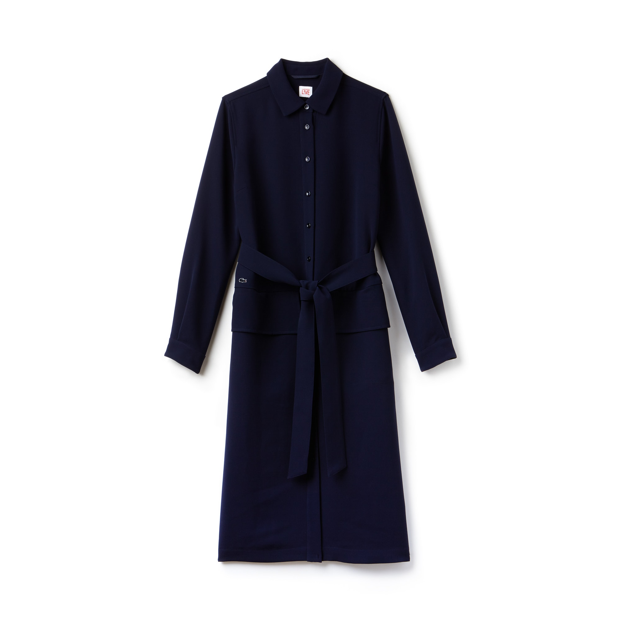 Women's Lacoste LIVE Buttoned And Belted Dress