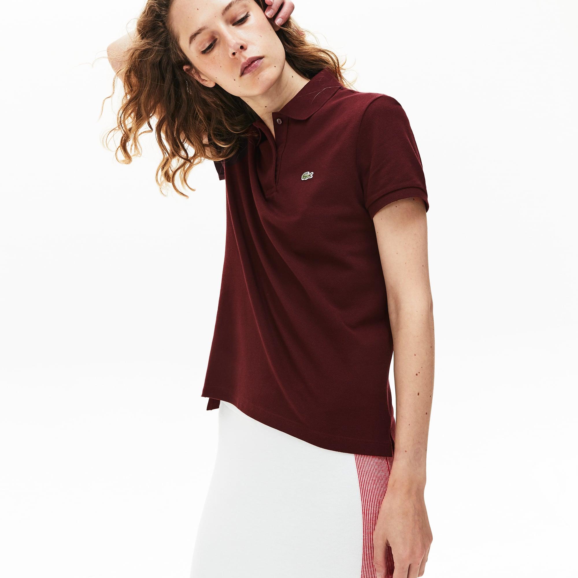 라코스테 쁘띠 피케 폴로 셔츠, 클래식핏 (김나영 착용) Lacoste Womens Classic Fit Soft Cotton Petit Pique Polo Shirt, PF7839