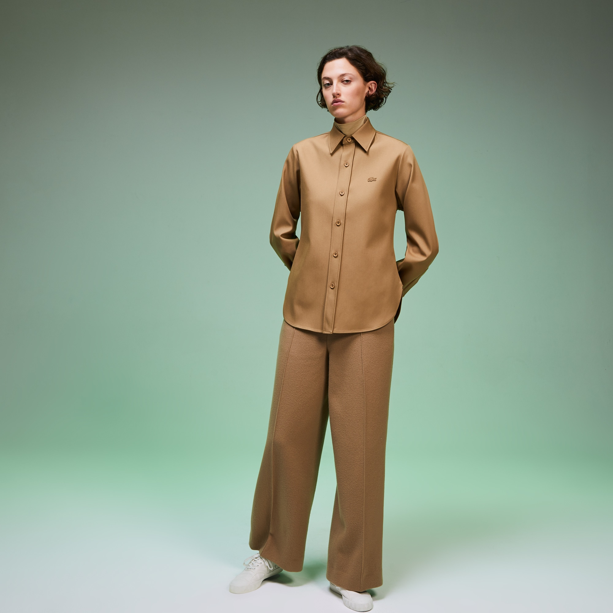 Women's Fashion Show Solid Wool Shirt