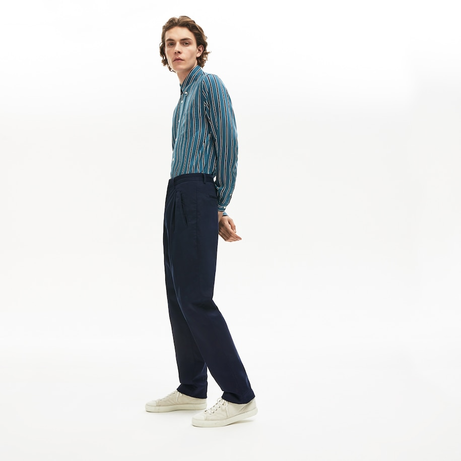 Men's Pleat-Front Twill Chinos