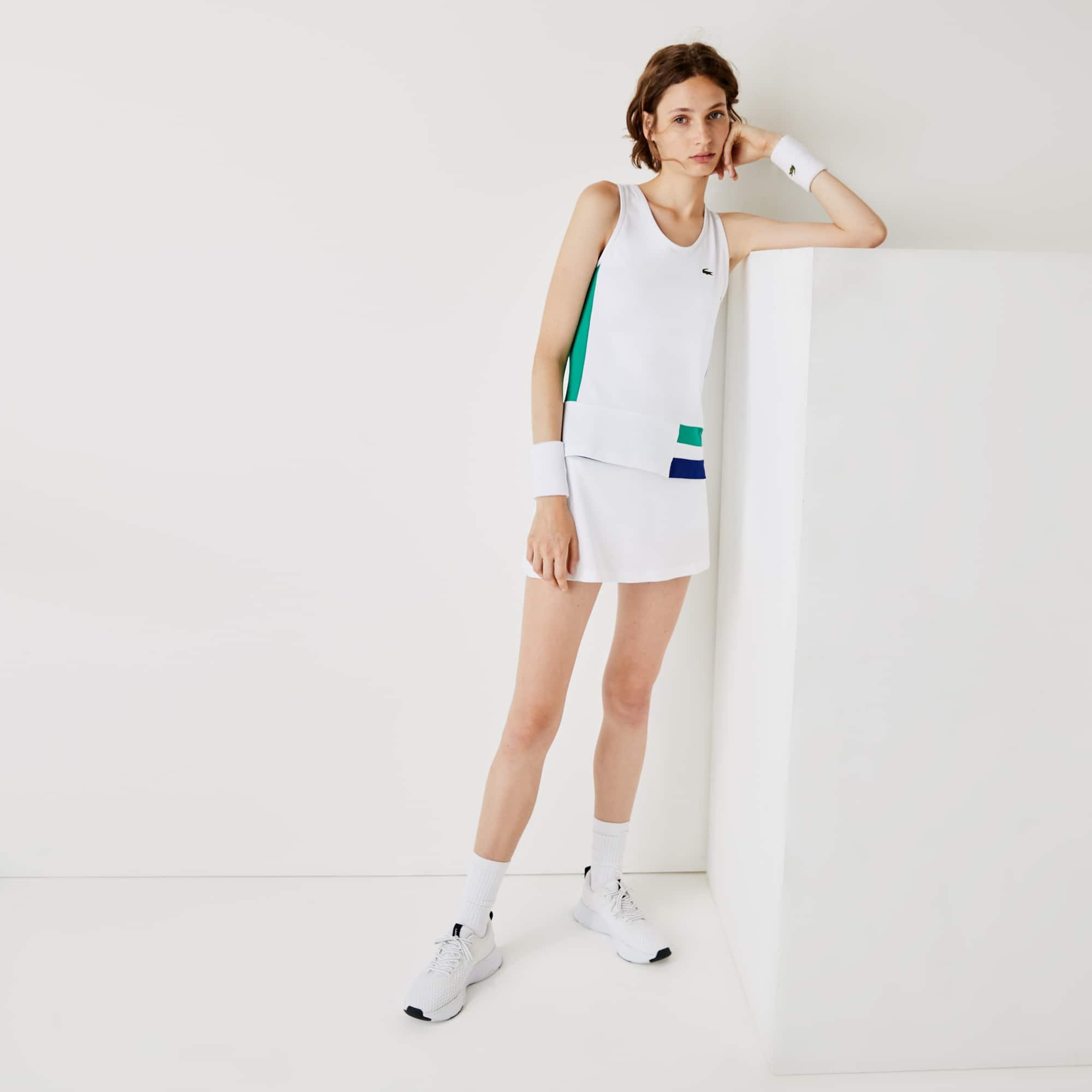 라코스테 스포츠 테니스 컬러블록 스트레치 탱크탑 Womens Lacoste SPORT Colourblock Stretch Tennis Tank Top