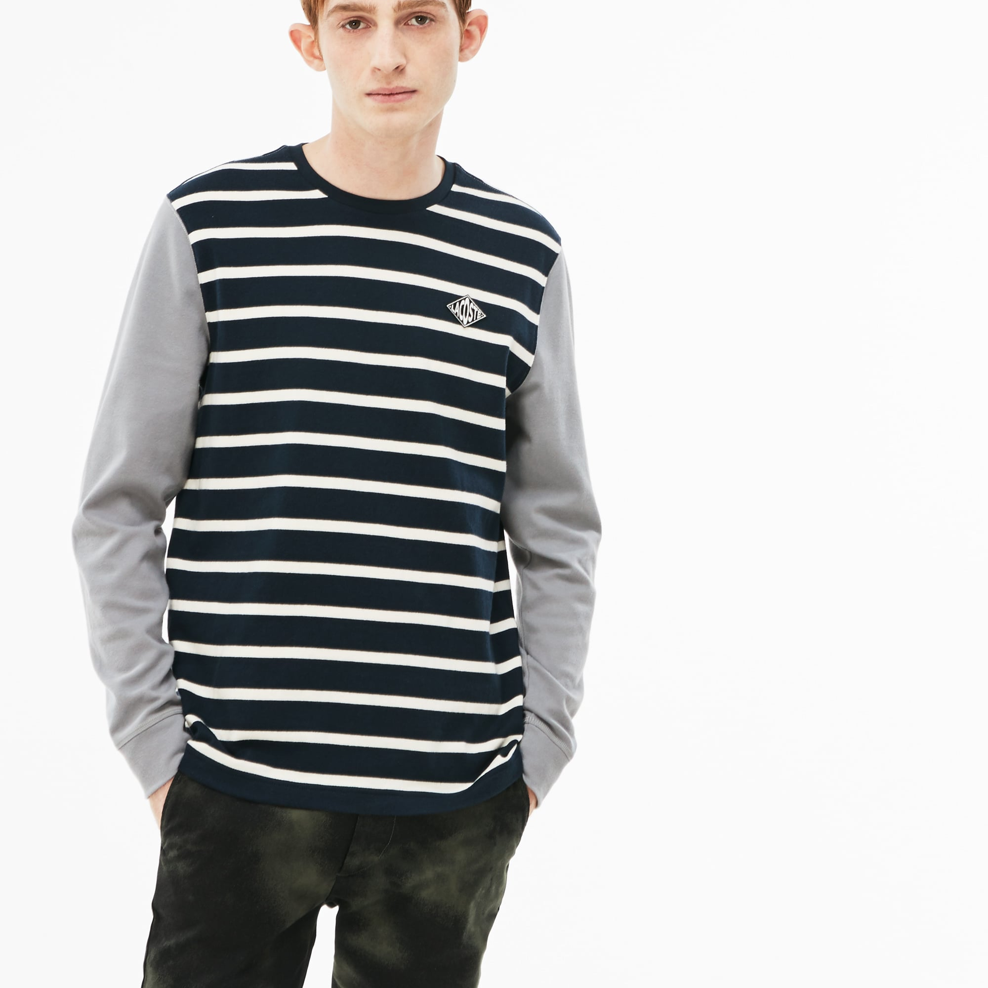 Men's LIVE Striped Cotton Jersey T-shirt