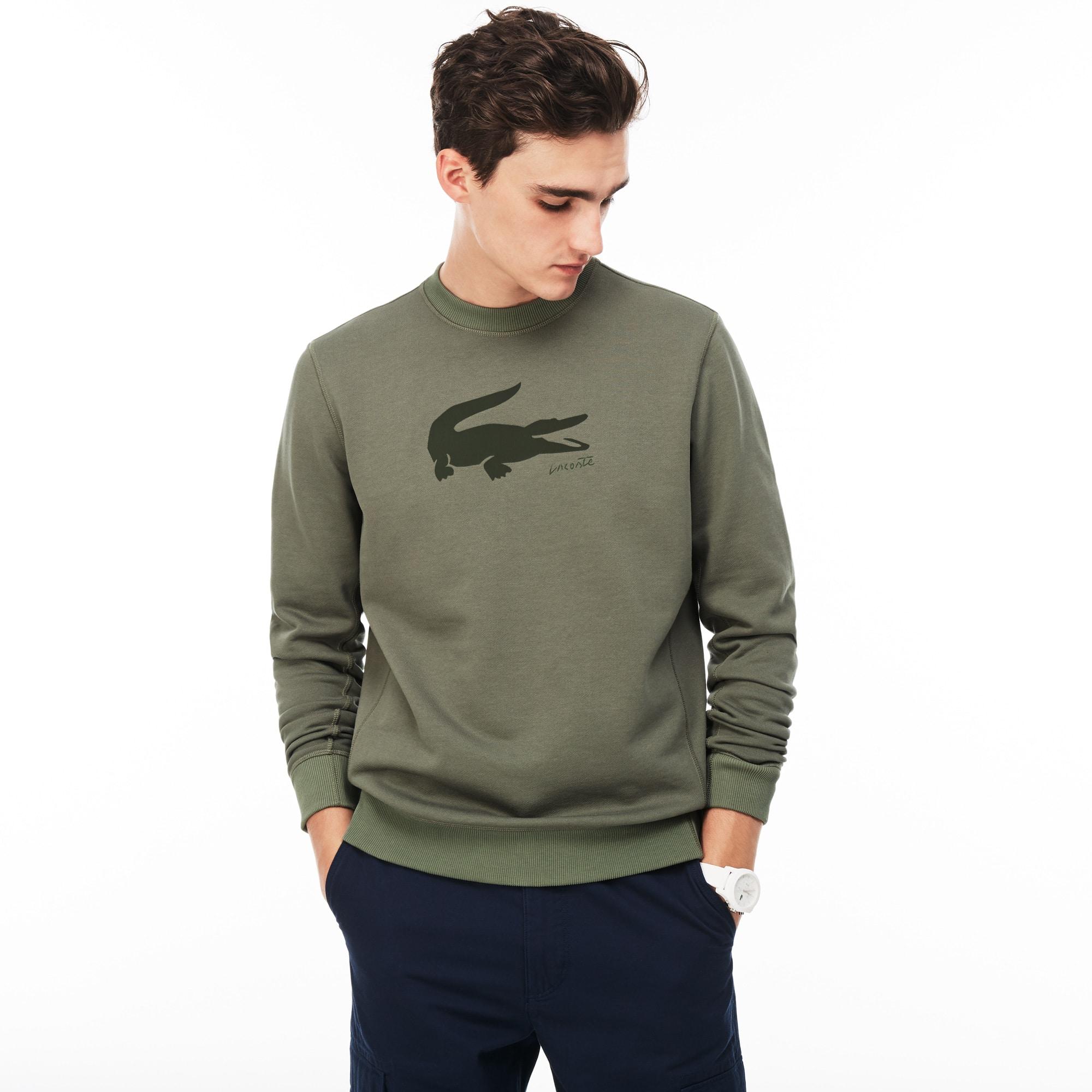 Men's Crocodile Print Sweatshirt
