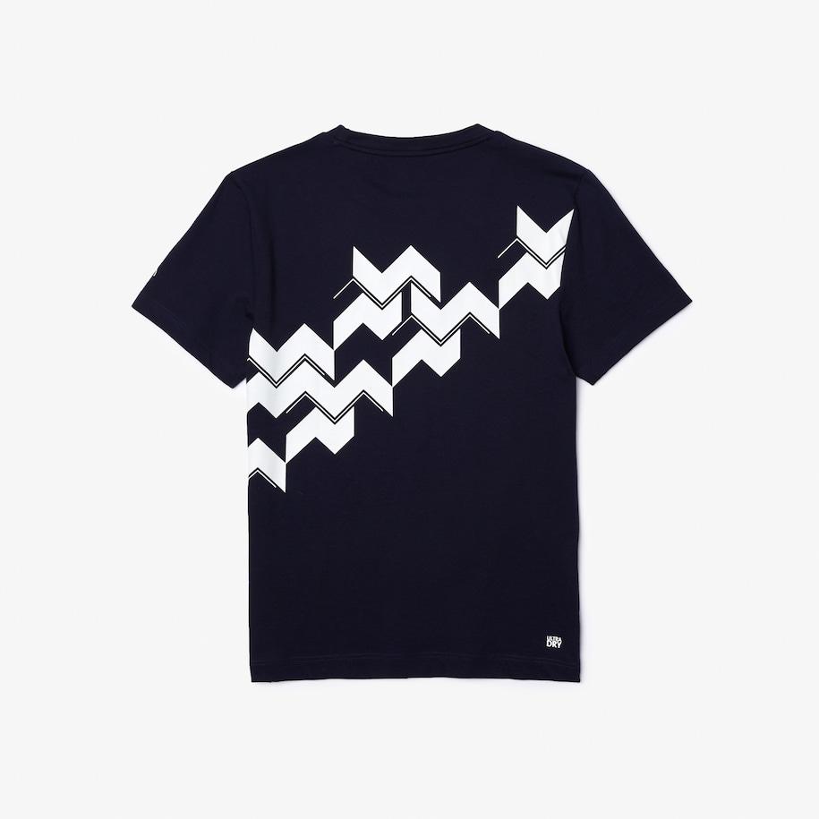 Men S Sport X Novak Djokovic Breathable Jersey T Shirt Lacoste