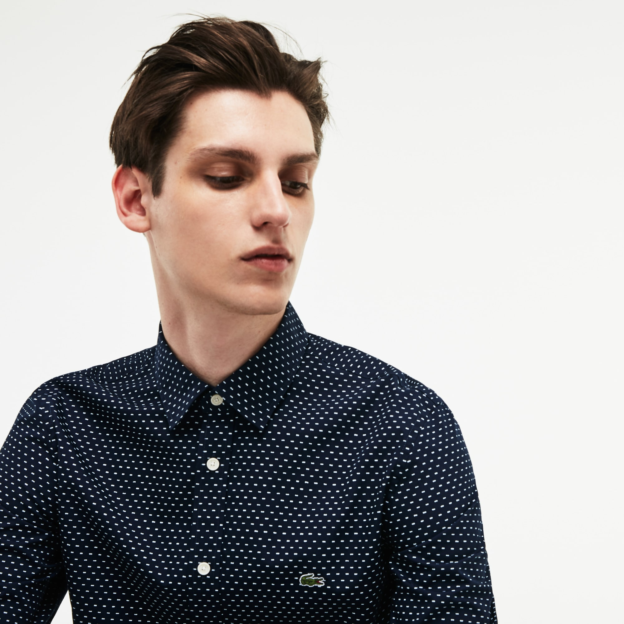 Men's Motion Slim Fit Print Poplin Shirt