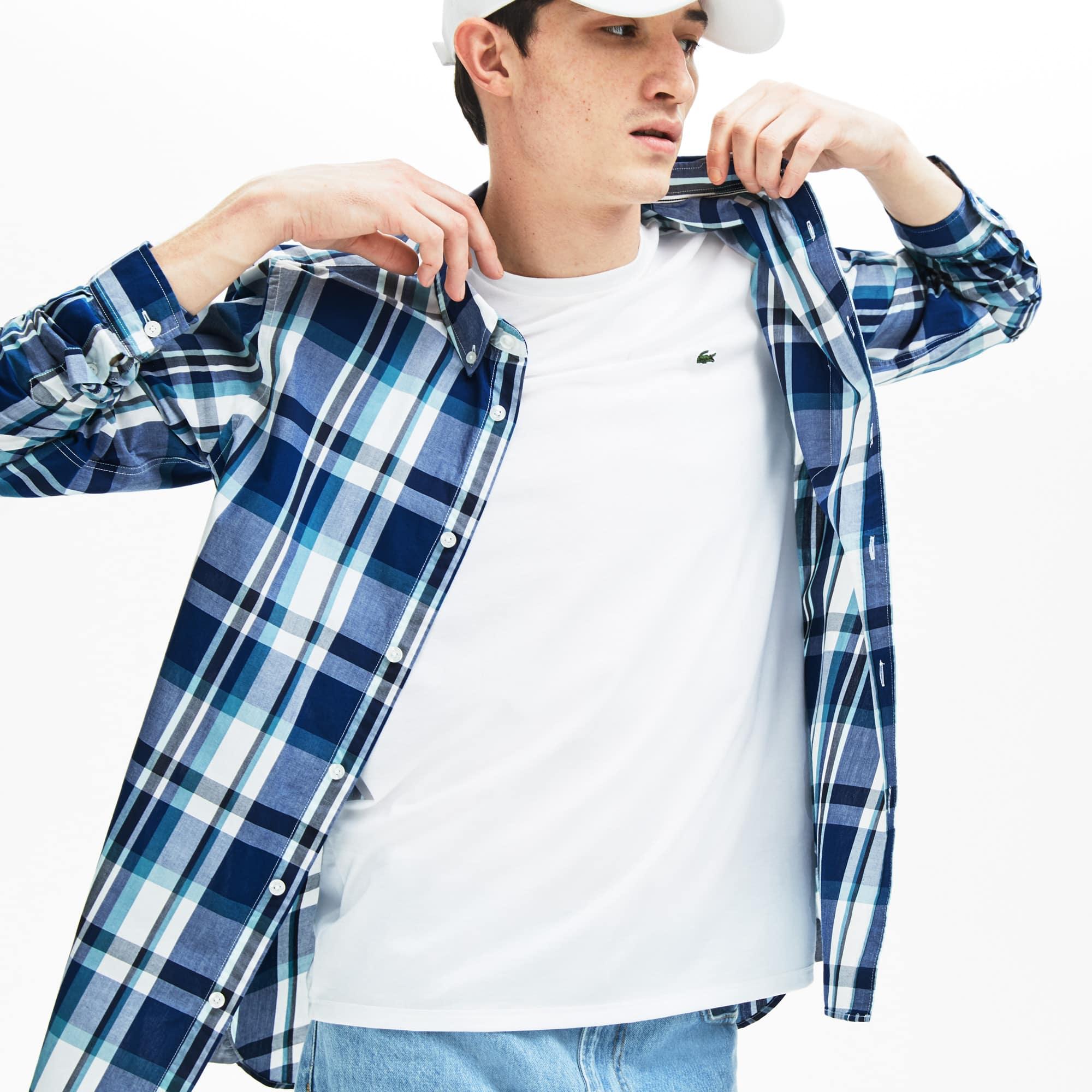 1d73fafe Men's Slim Fit Cotton Poplin Shirt | LACOSTE