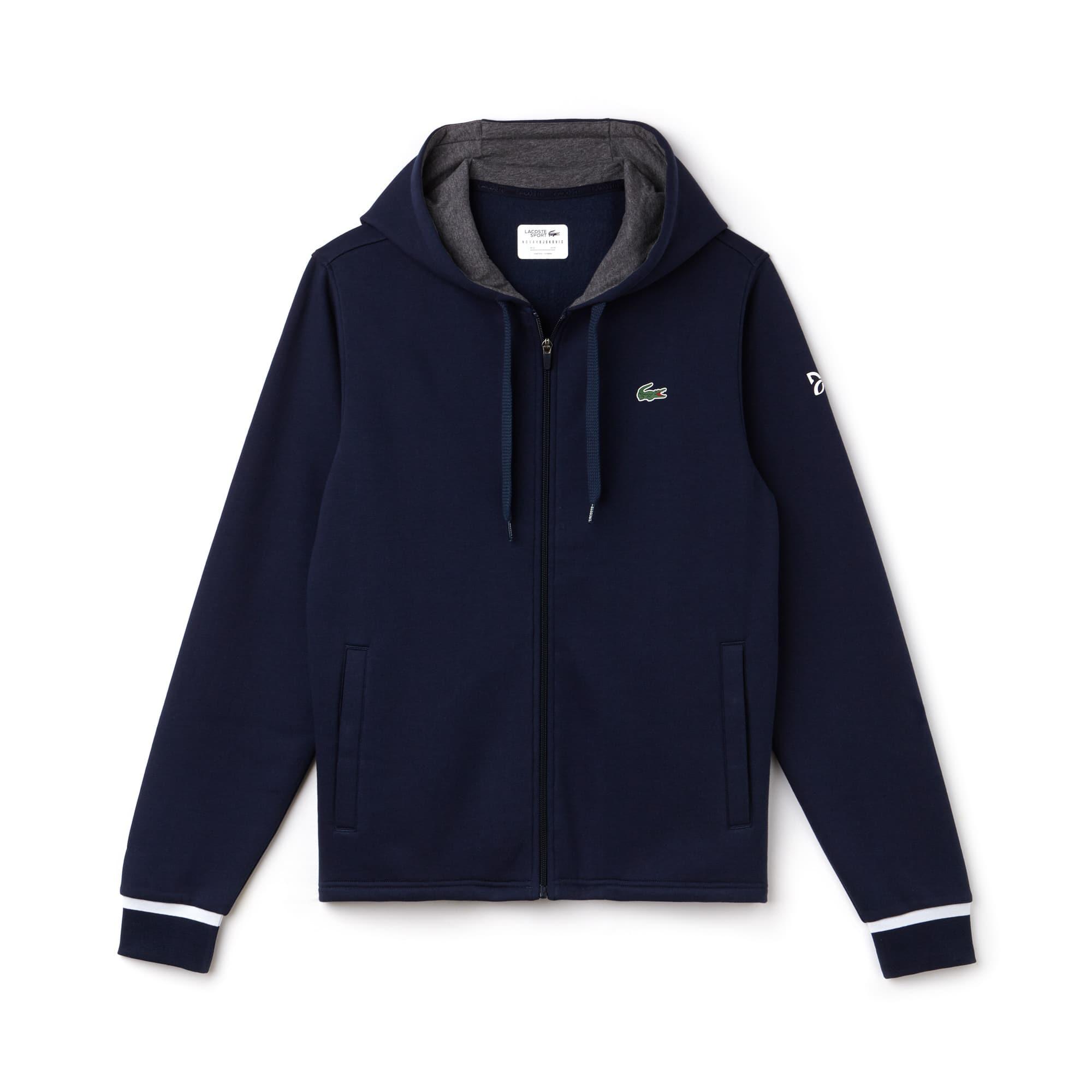 Men's SPORT Hooded Fleece Zip Sweatshirt - Novak Djokovic Supporter Collection