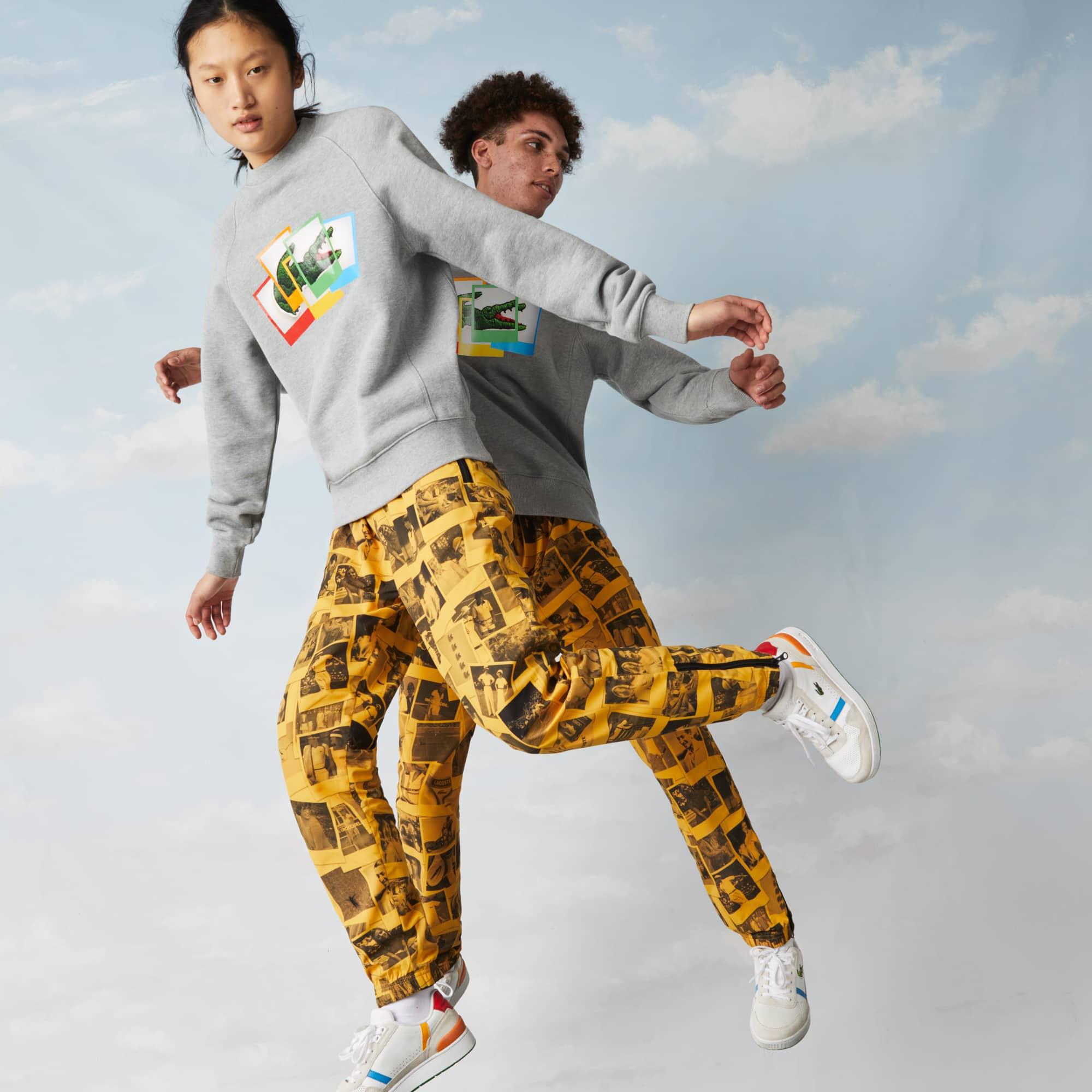 라코스테 라이브 X 폴라로이드 콜라보 남녀공용 맨투맨 (루즈핏) Unisex Lacoste LIVE x Polaroid Loose Fit Sweatshirt