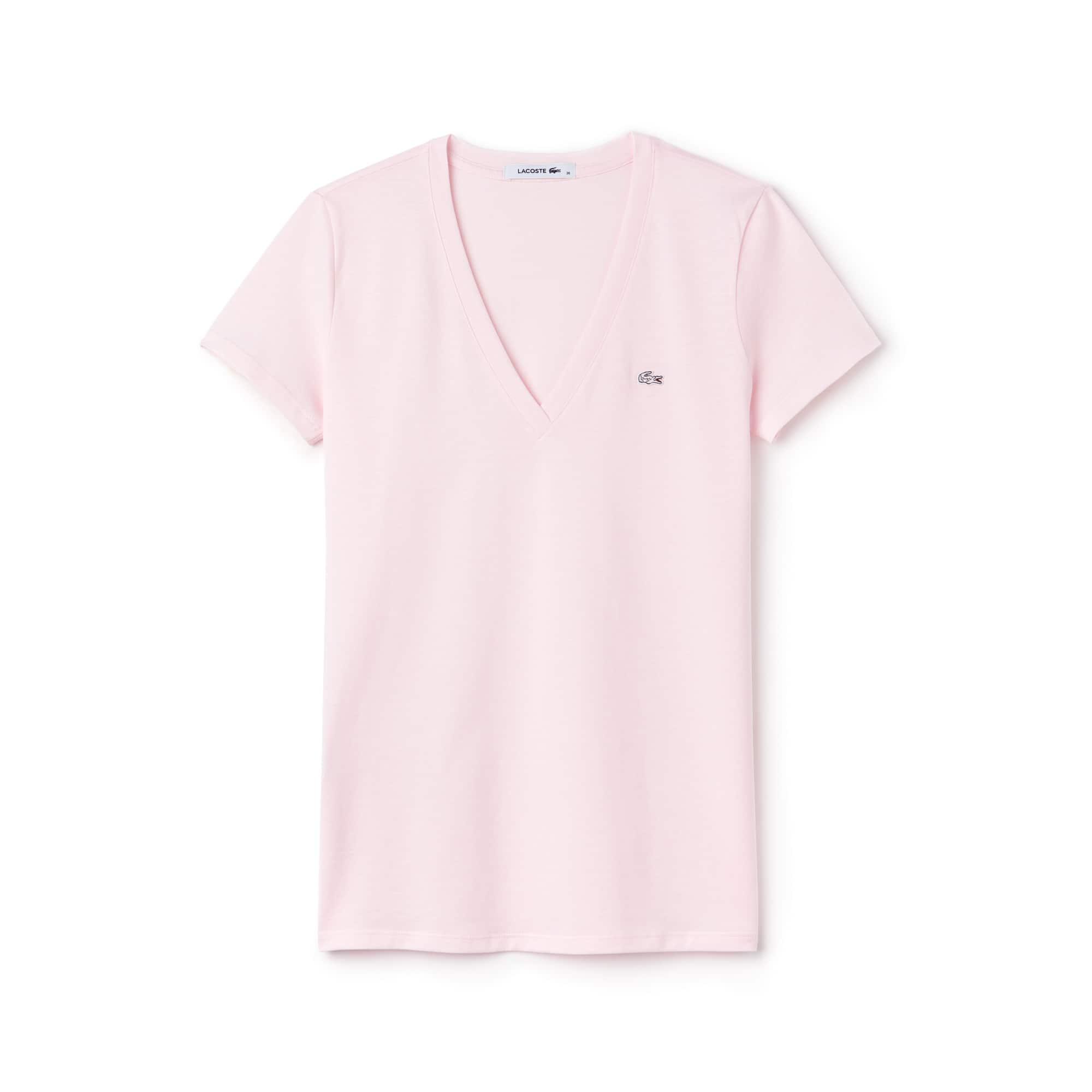 Women's Jersey Cotton V-Neck T-Shirt