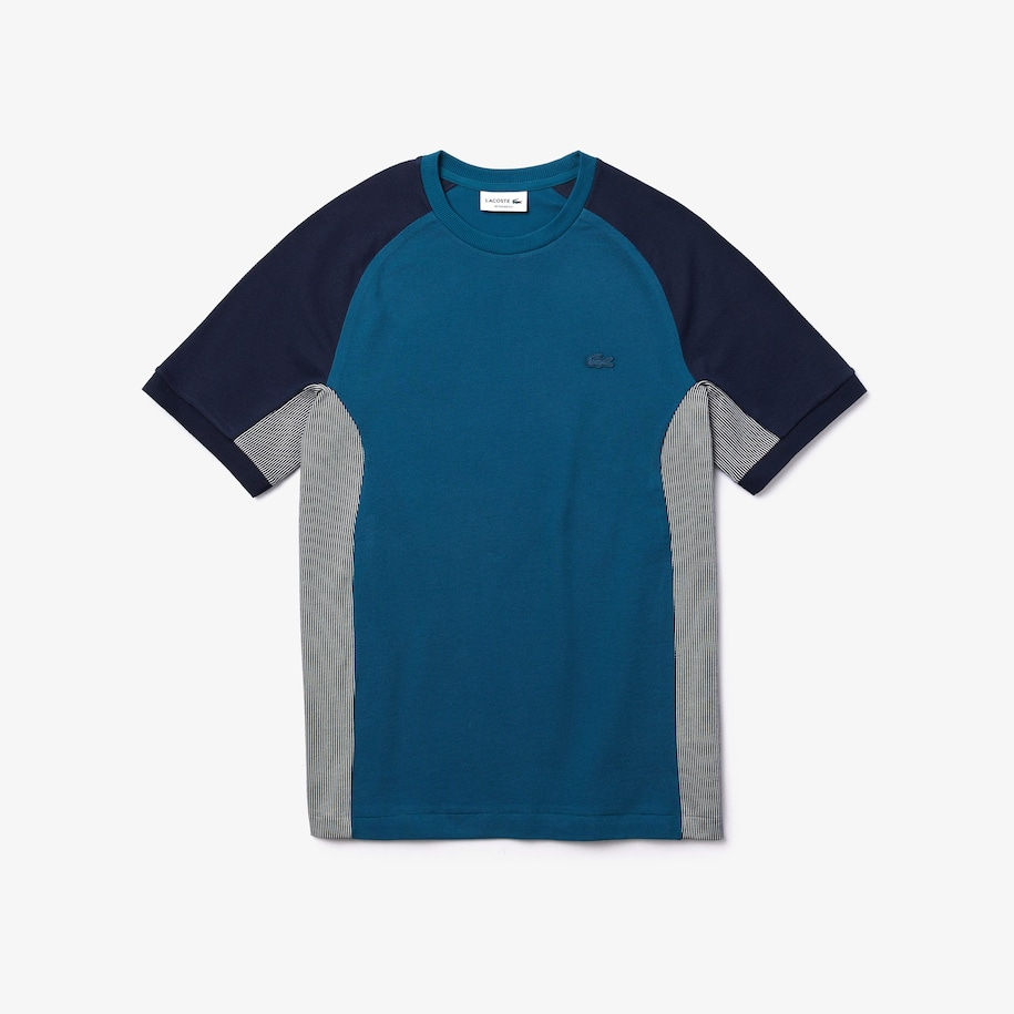 Men's Motion Regular Fit Colorblock Cotton-Piqué Performance T-shirt