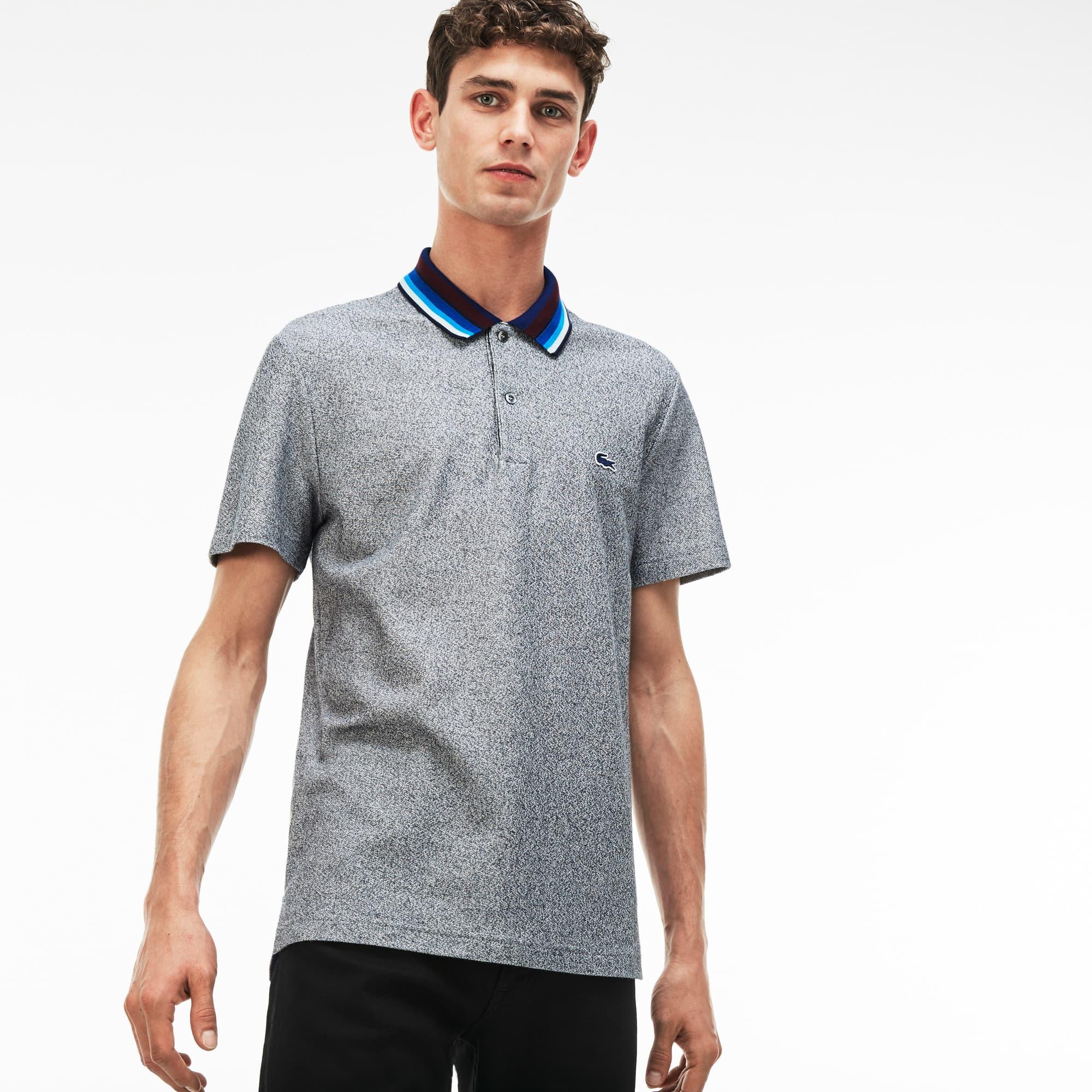 Men's Regular Fit Piped Cotton Piqué Polo