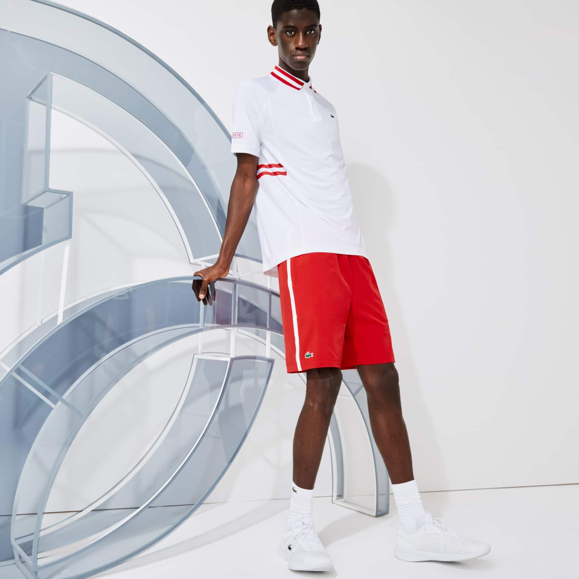 라코스테 Lacoste Men's SPORT x Novak Djokovic Breathable Stretch Shorts