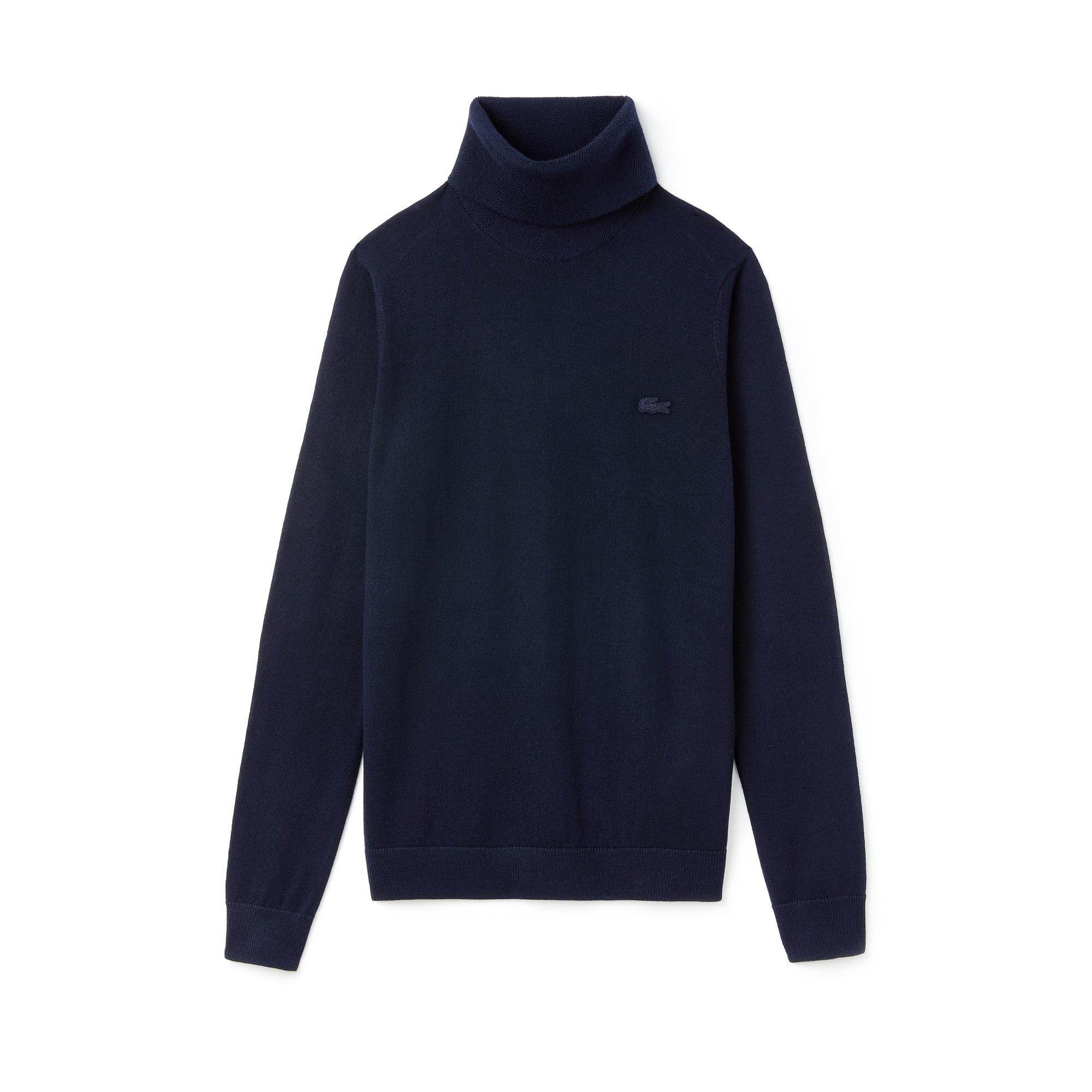 Women's Turtleneck Wool Jersey Sweater