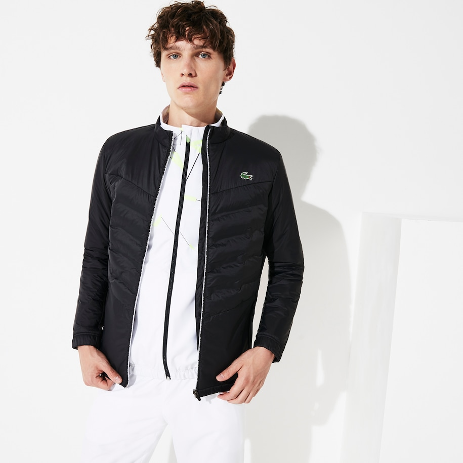 Men's SPORT Quilted Mixed-Material Zip Tennis Jacket