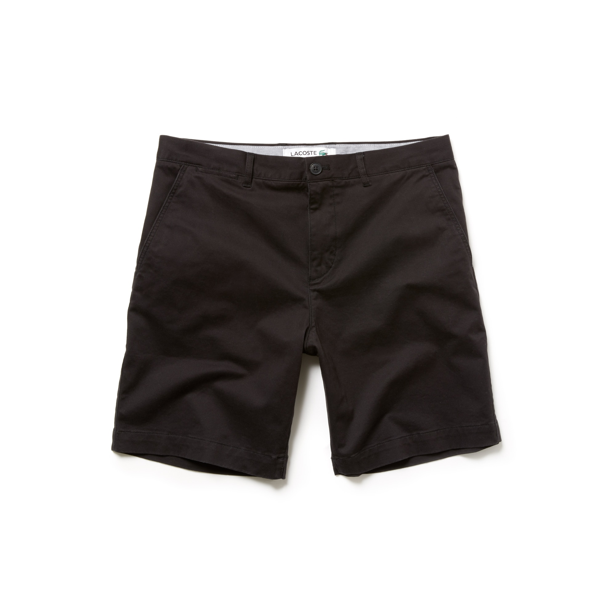 라코스테 반바지 Lacoste Mens Regular Fit Cotton Gabardine Bermuda Shorts,black