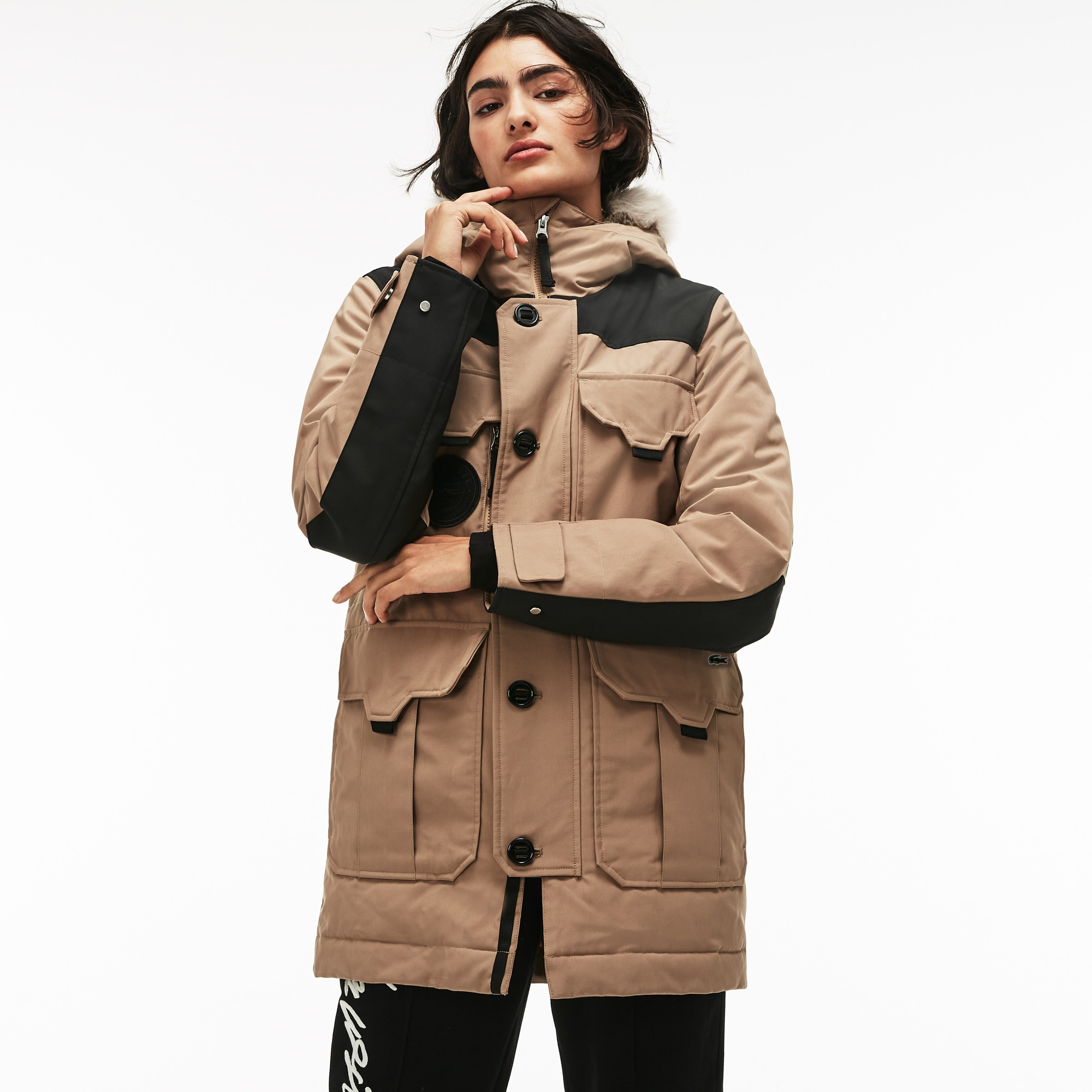 5cd414ae35 Unisex LIVE Water-Resistant Canvas Quilted Parka | LACOSTE