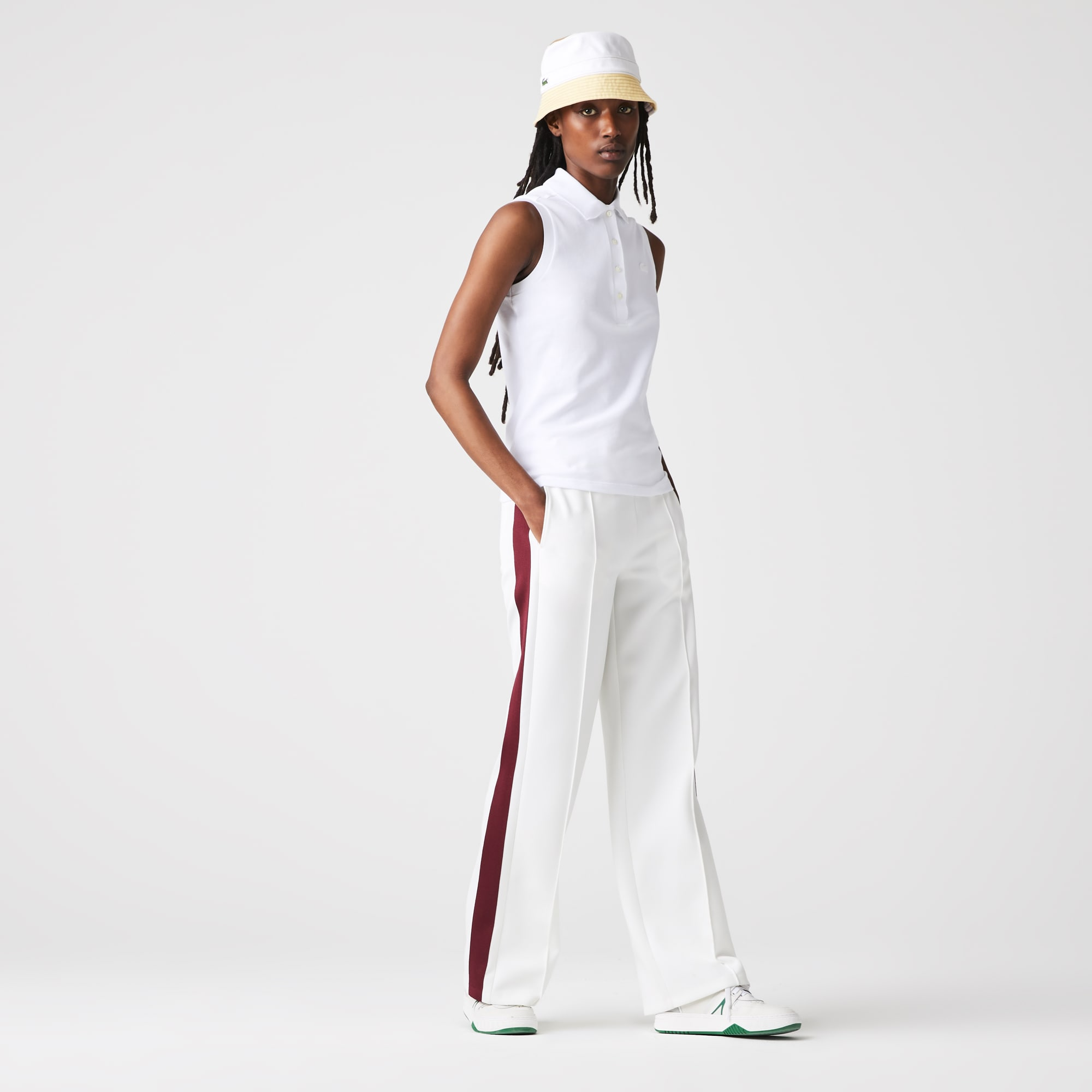 라코스테 Lacoste Womens Sleeveless Cotton Pique Polo