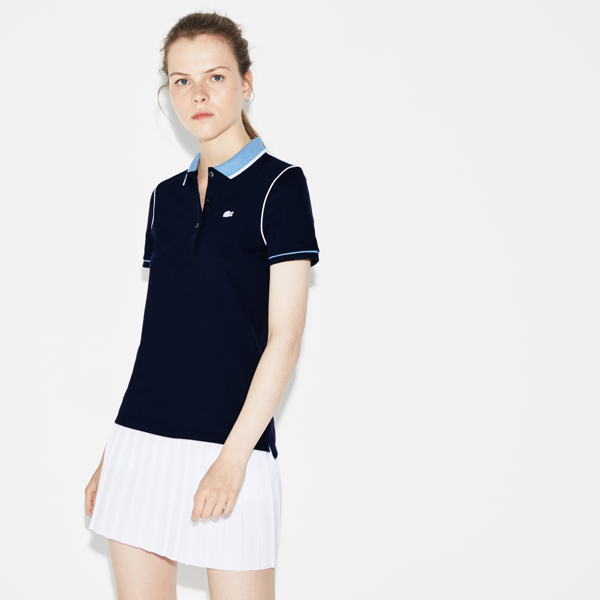 Women's SPORT Roland Garros Edition Stretch Mini Piqué Polo