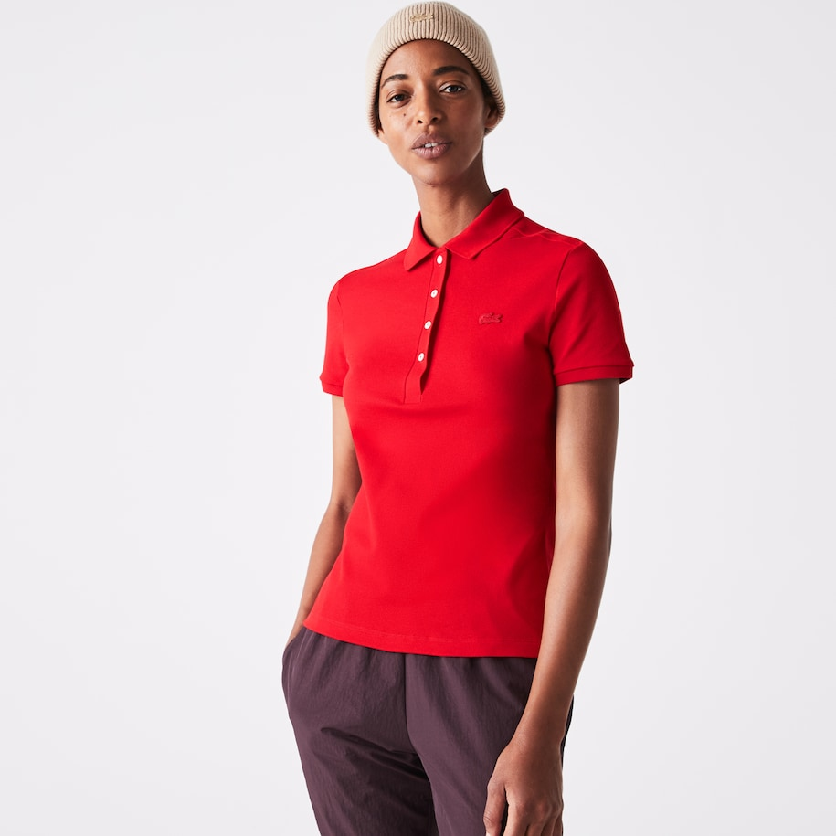 Women's Stretch Cotton Piqué Polo Shirt