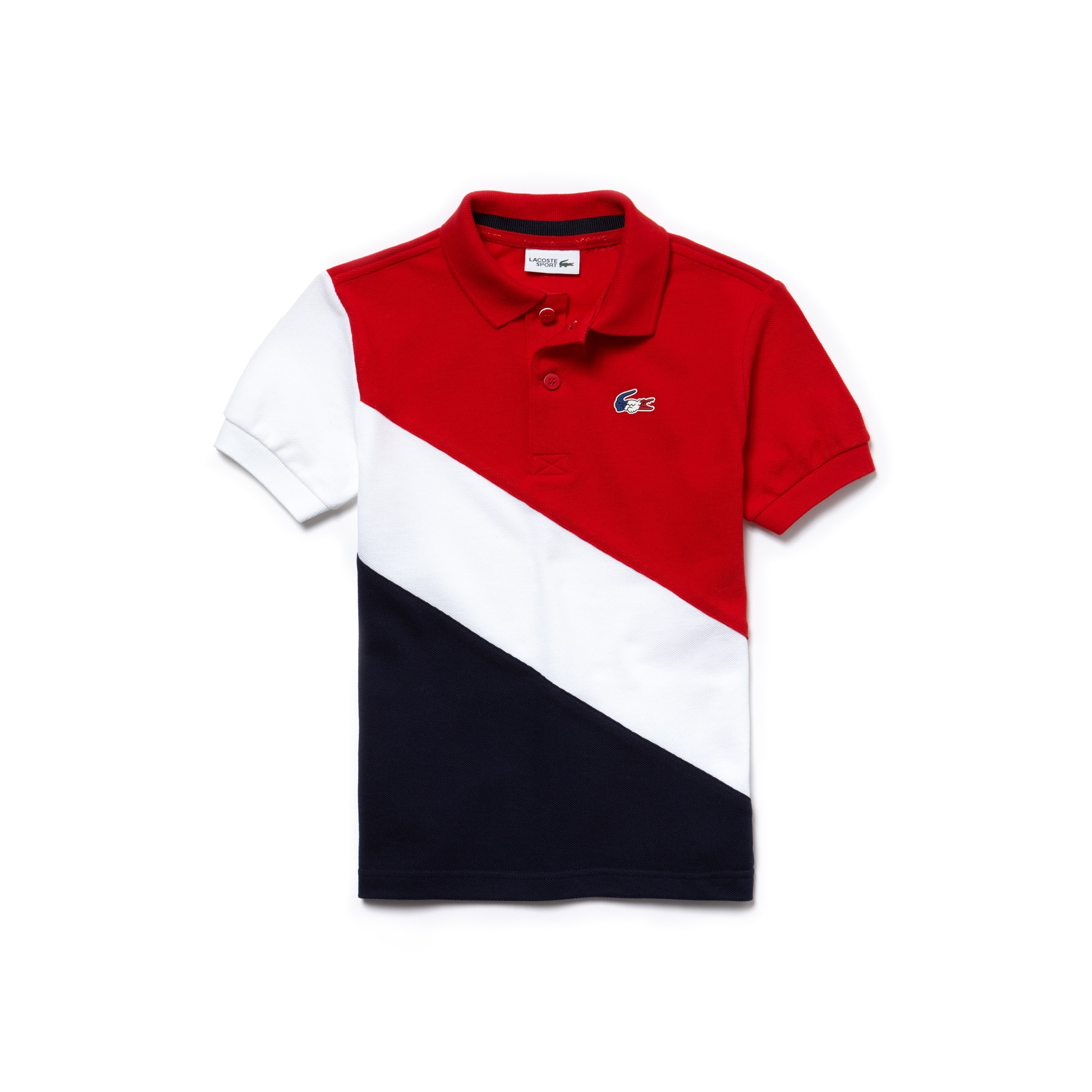 Boys'  French Sporting Spirit Edition Colorblock Petit Piqué Polo