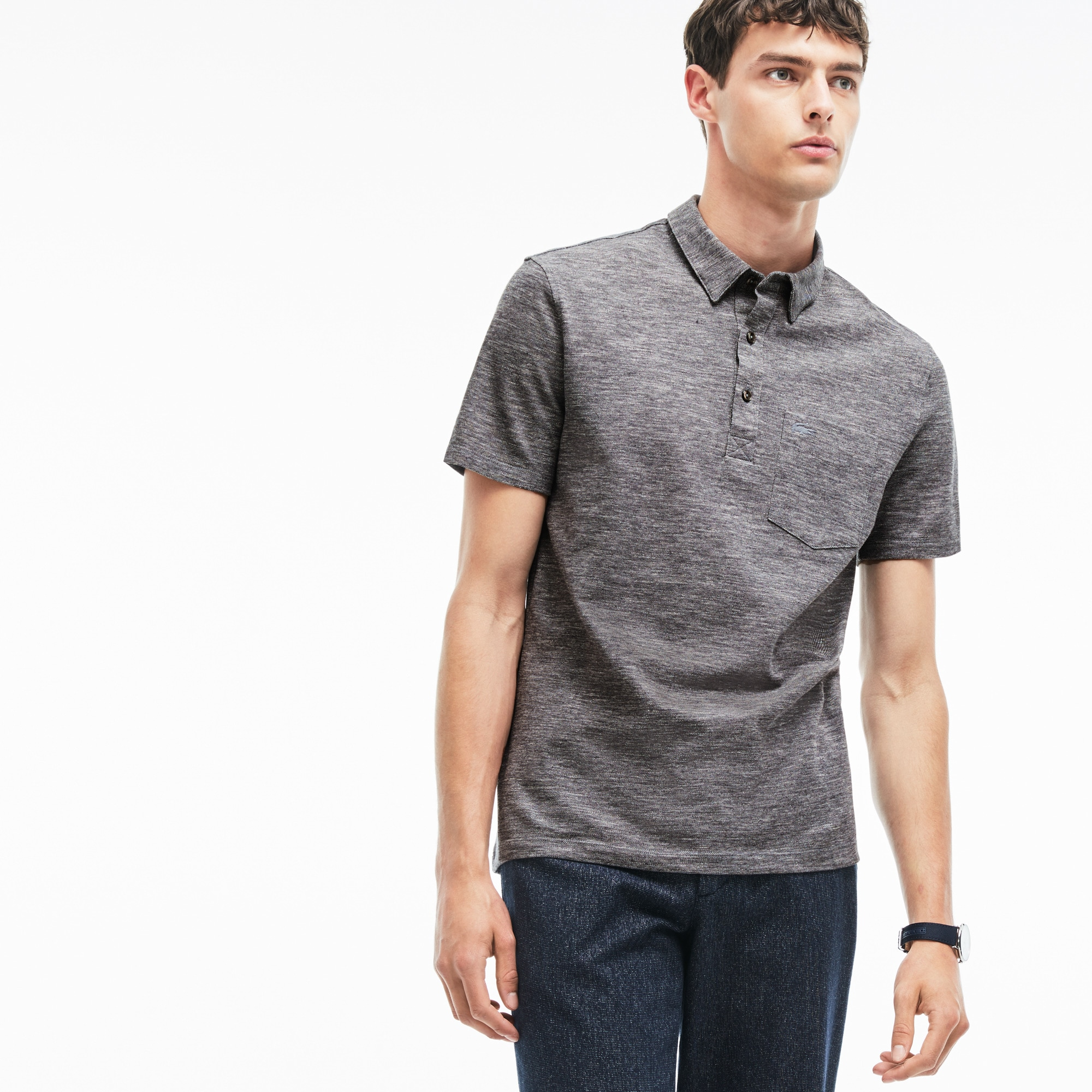 Men's Slim Fit Heather Cotton Piqué Polo