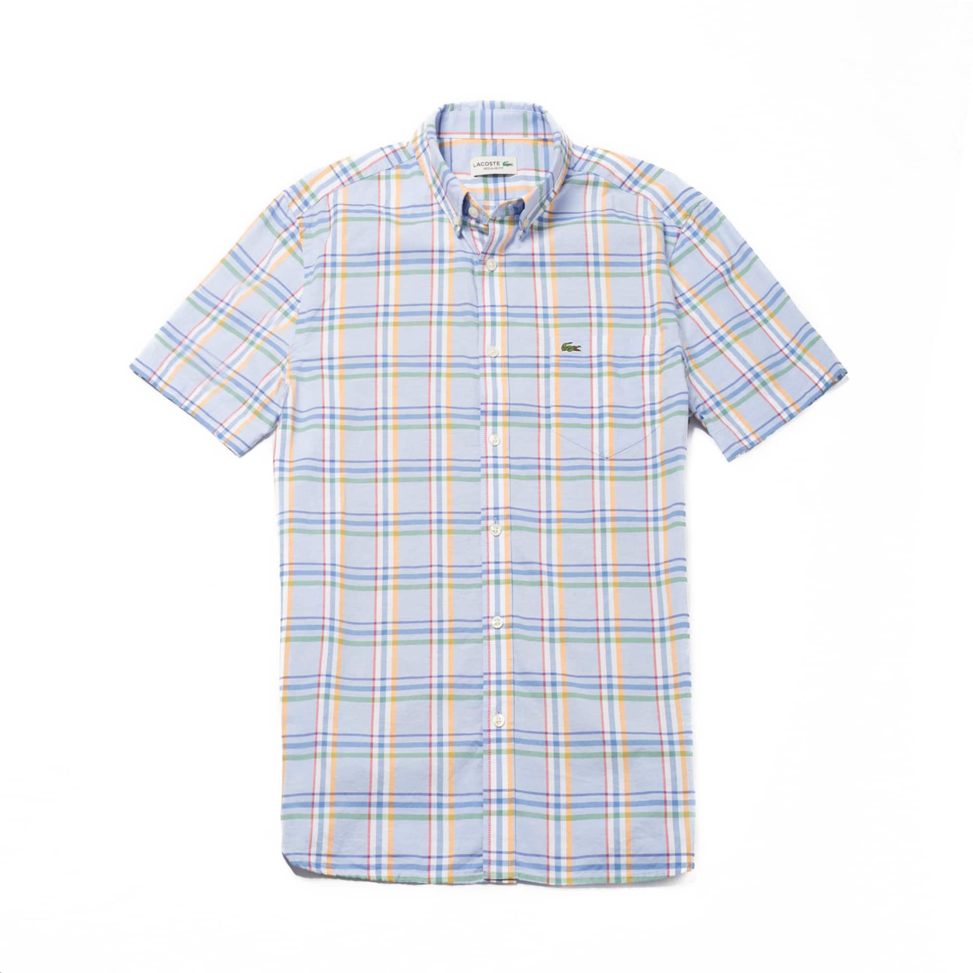 Men's Colorful Plaid Cotton Poplin Shirt