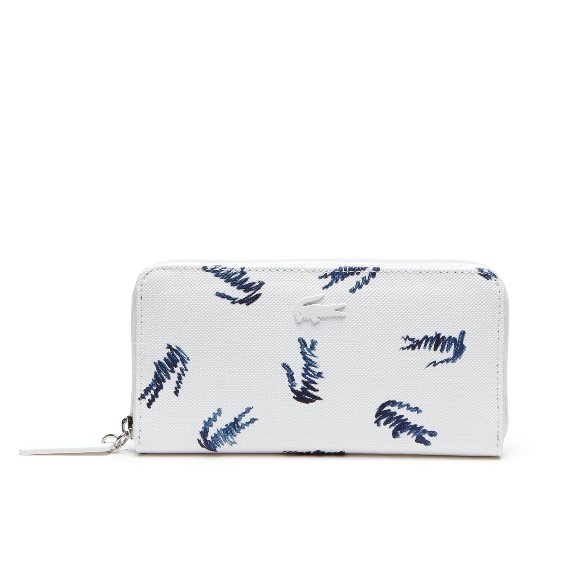 Women's L.12.12 Concept Croc Print Zip Wallet