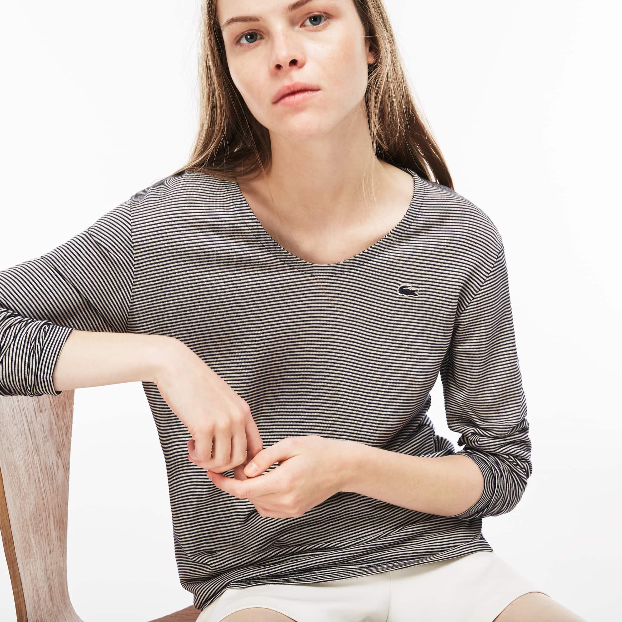 298dd9edf Women s Pinstriped Ottoman T-Shirt