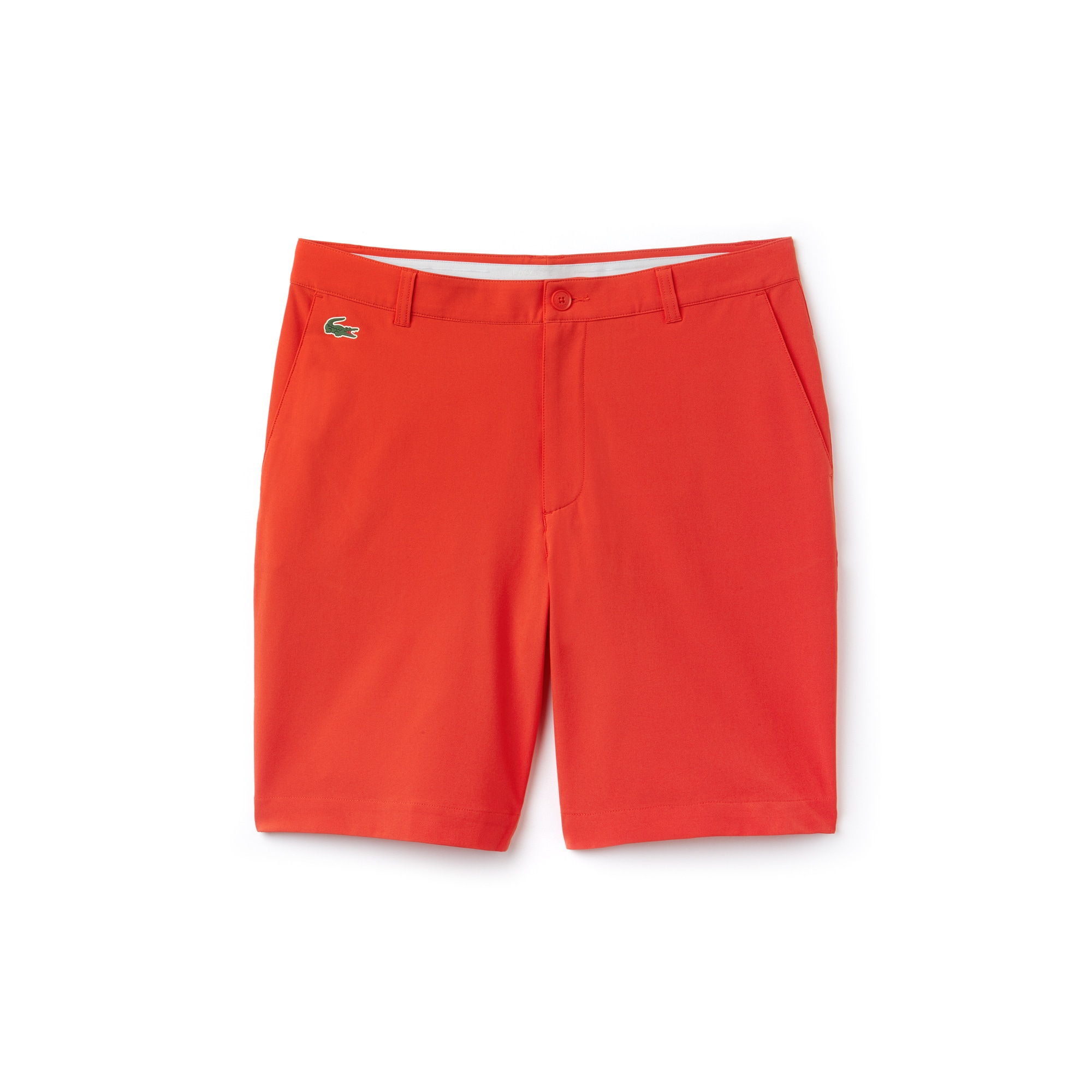 라코스테 Lacoste Mens SPORT Stretch Taffeta Technical Golf Bermuda Shorts,red