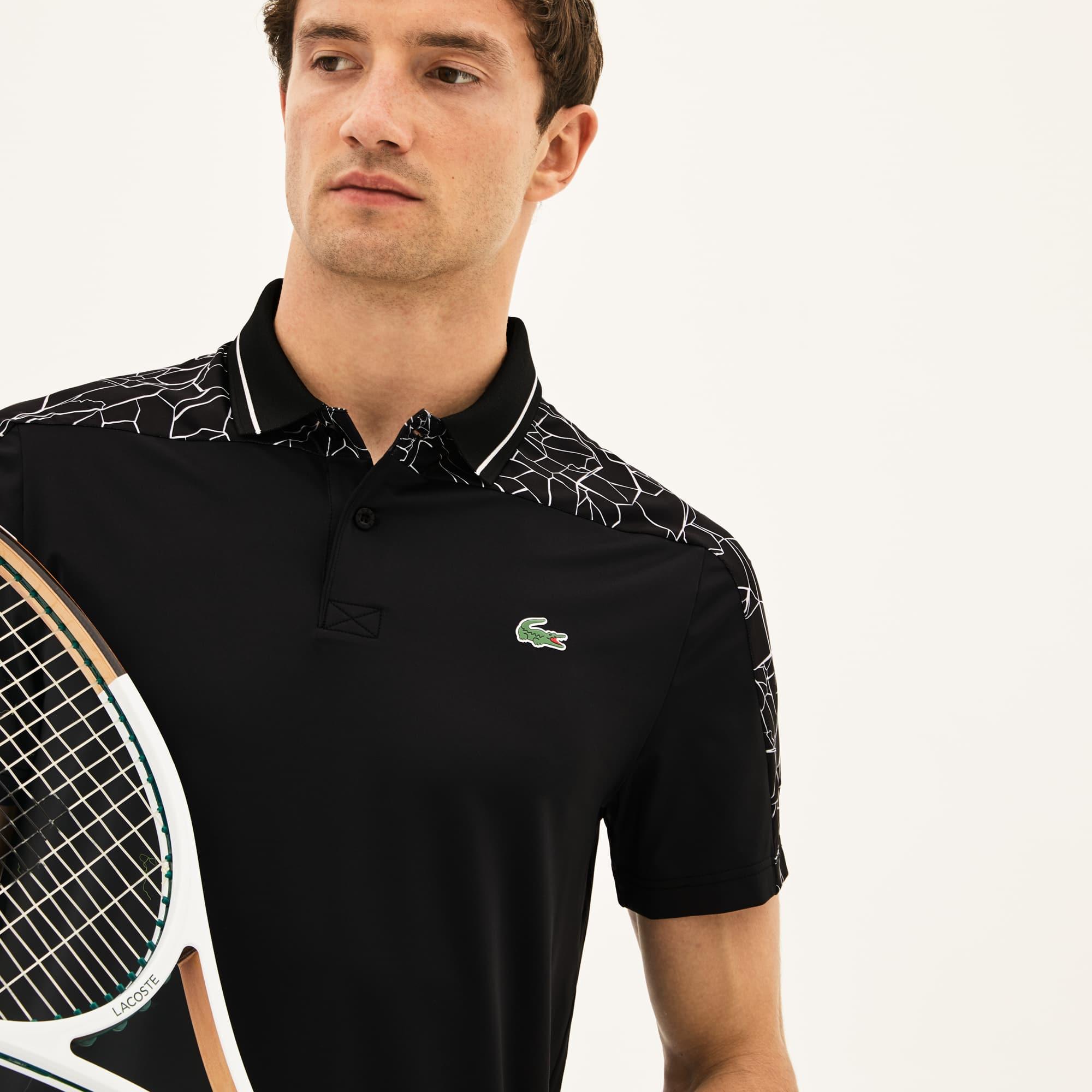 Men's SPORT Stretch Technical Jersey Polo - Lacoste x Novak Djokovic On Court Premium Edition
