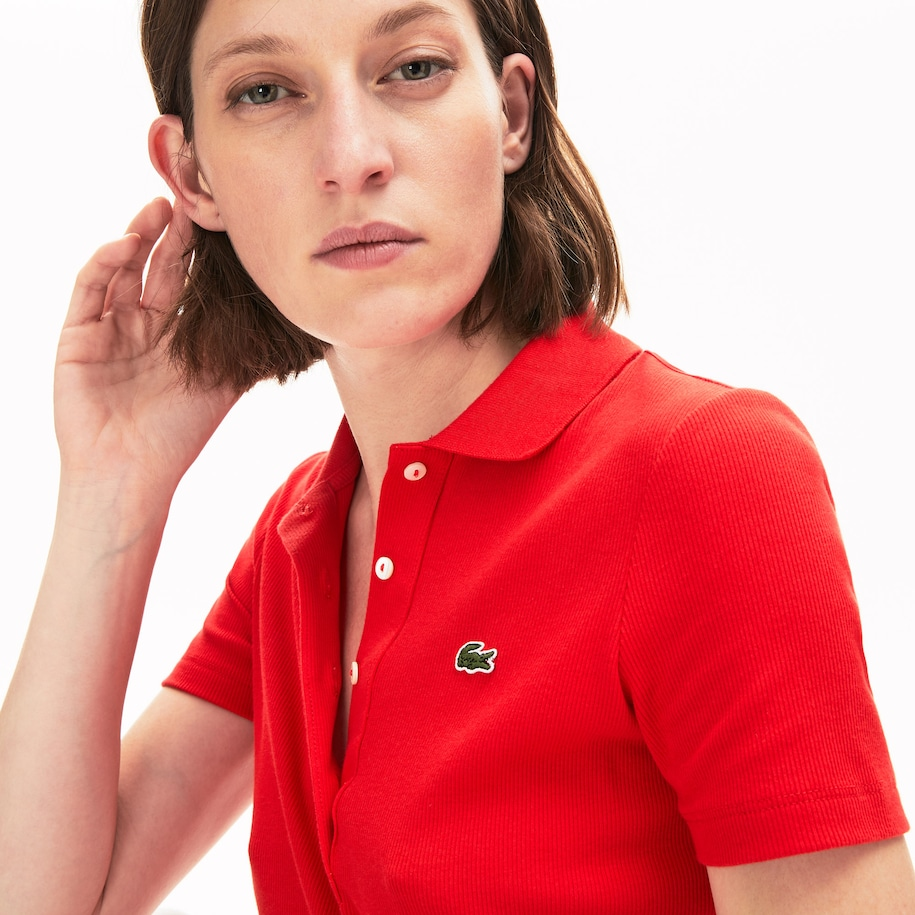 Women's Ribbed Cotton Polo