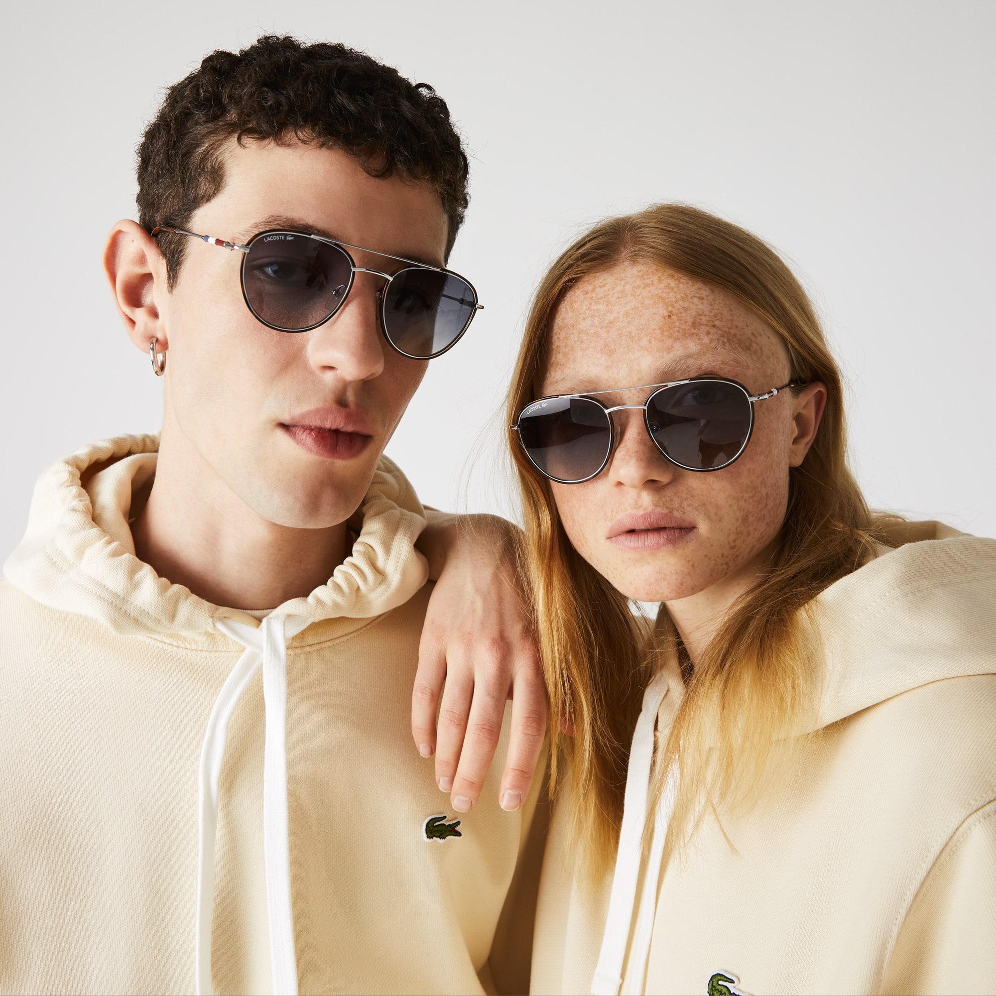 라코스테 '노박 조코비치 컬렉션' 선글라스 Lacoste Oval Metal Novak Djokovic Collection Sunglasses